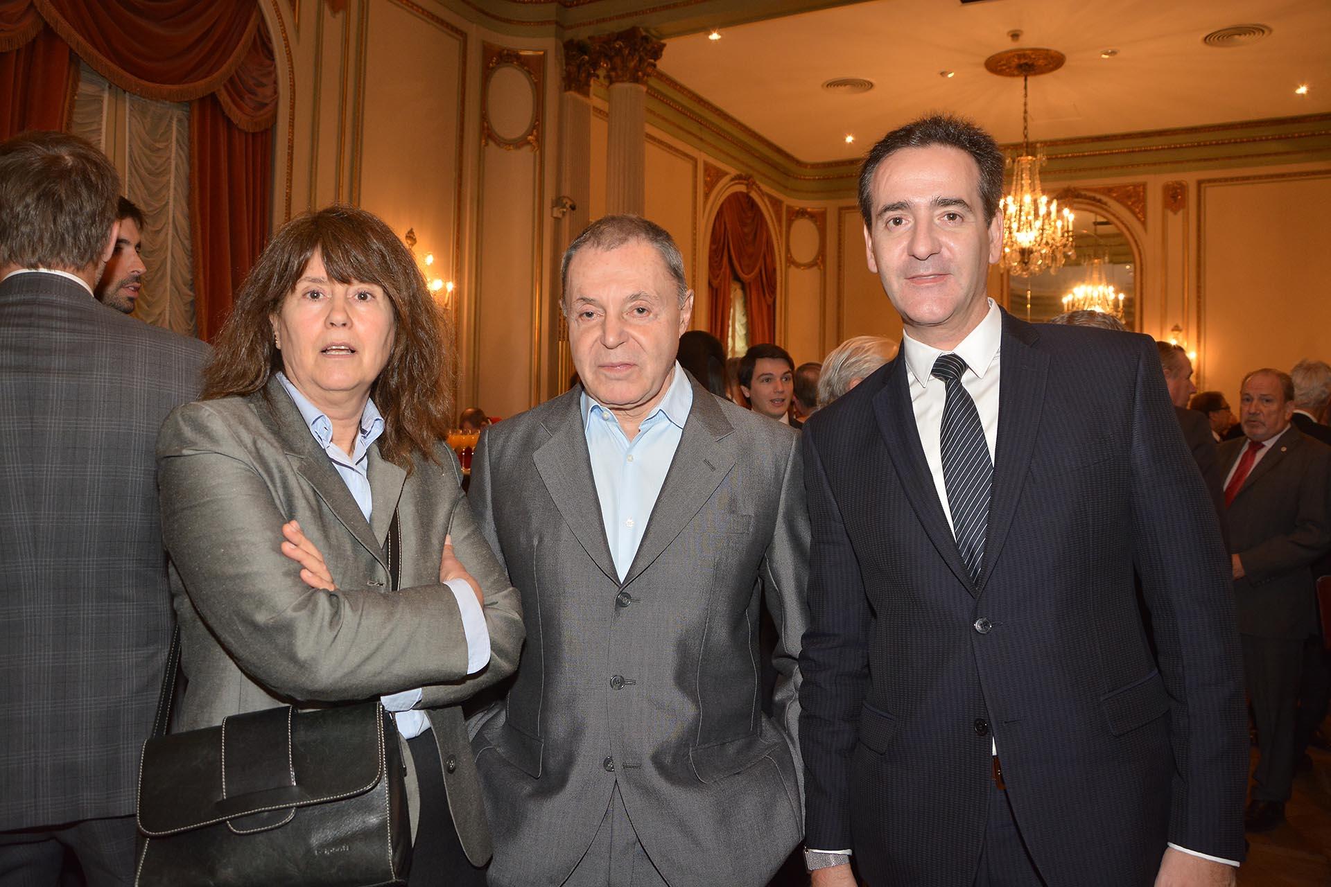 Stella Ageitos, Octavio Frigerio y el abogado Guillermo López del Punta