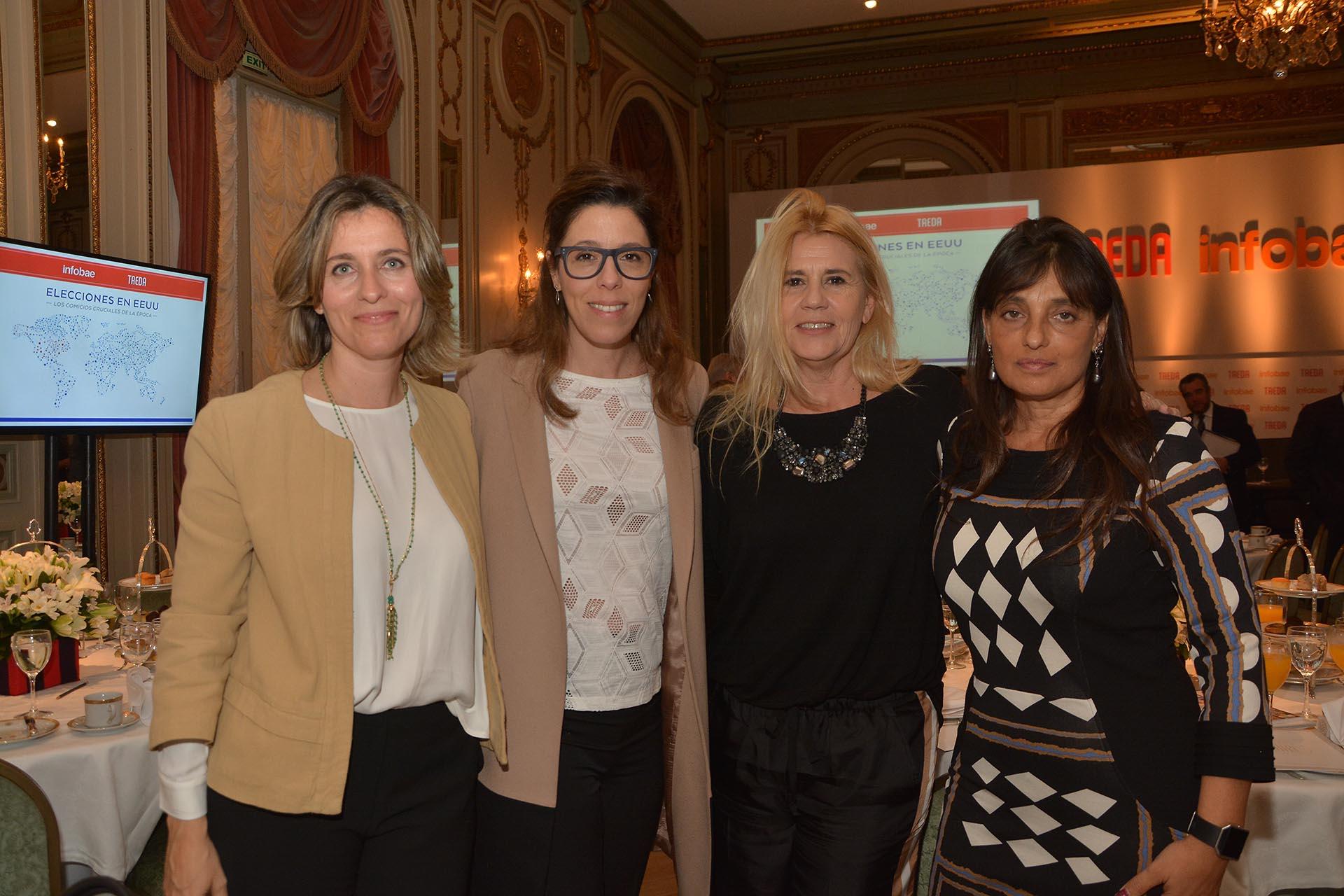 La empresaria Patricia Santa Marina, Laura Alonso, la doctora Marcela Losardo y Viviana Zocco