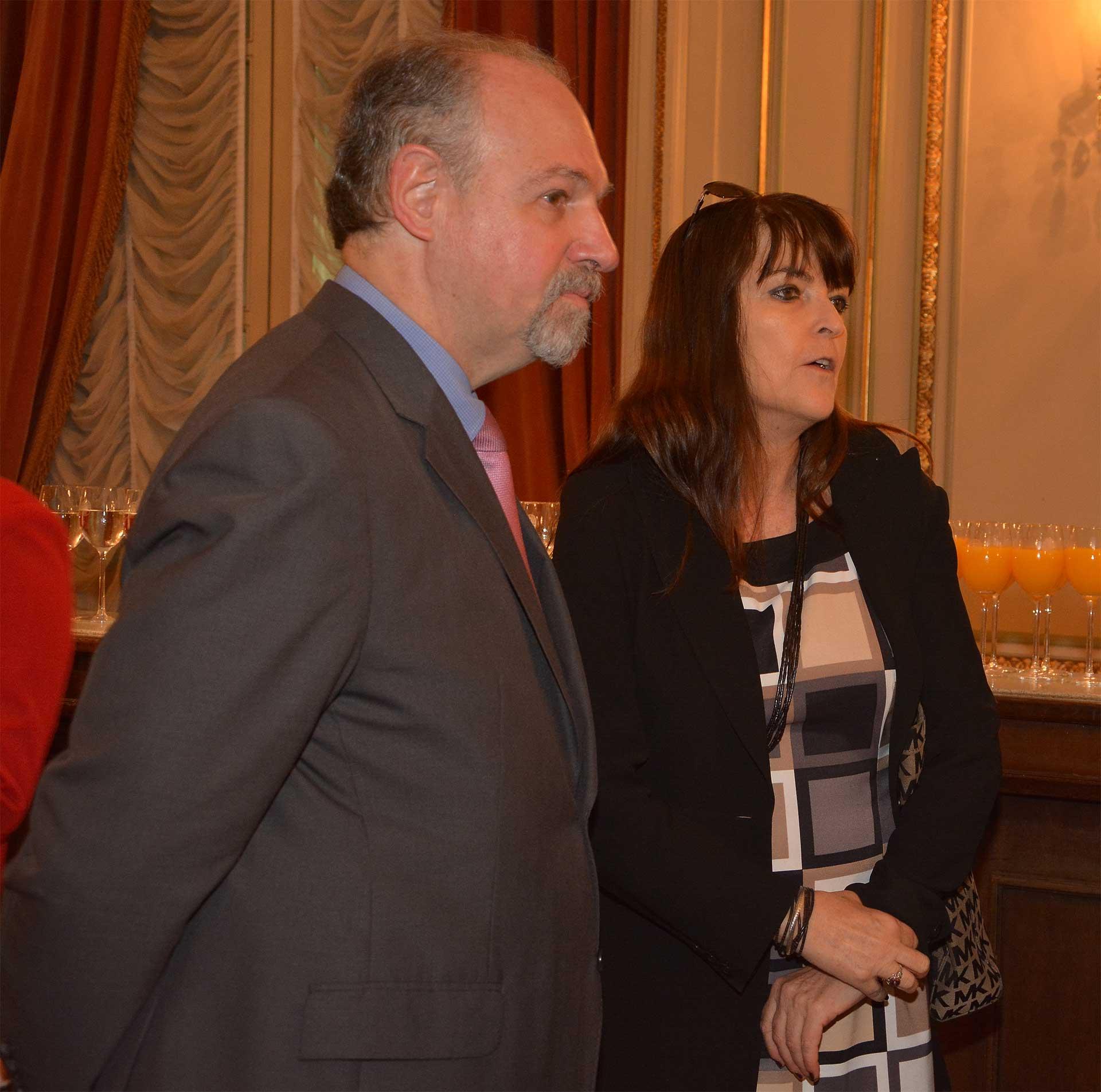 El embajador Ricardo Lagorio y Giselle Padovani