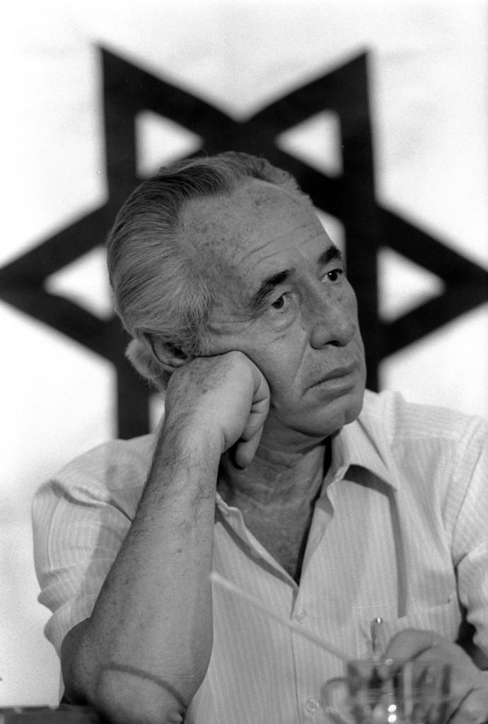 El Primer Ministro de Israel, Shimon Peres, en1986