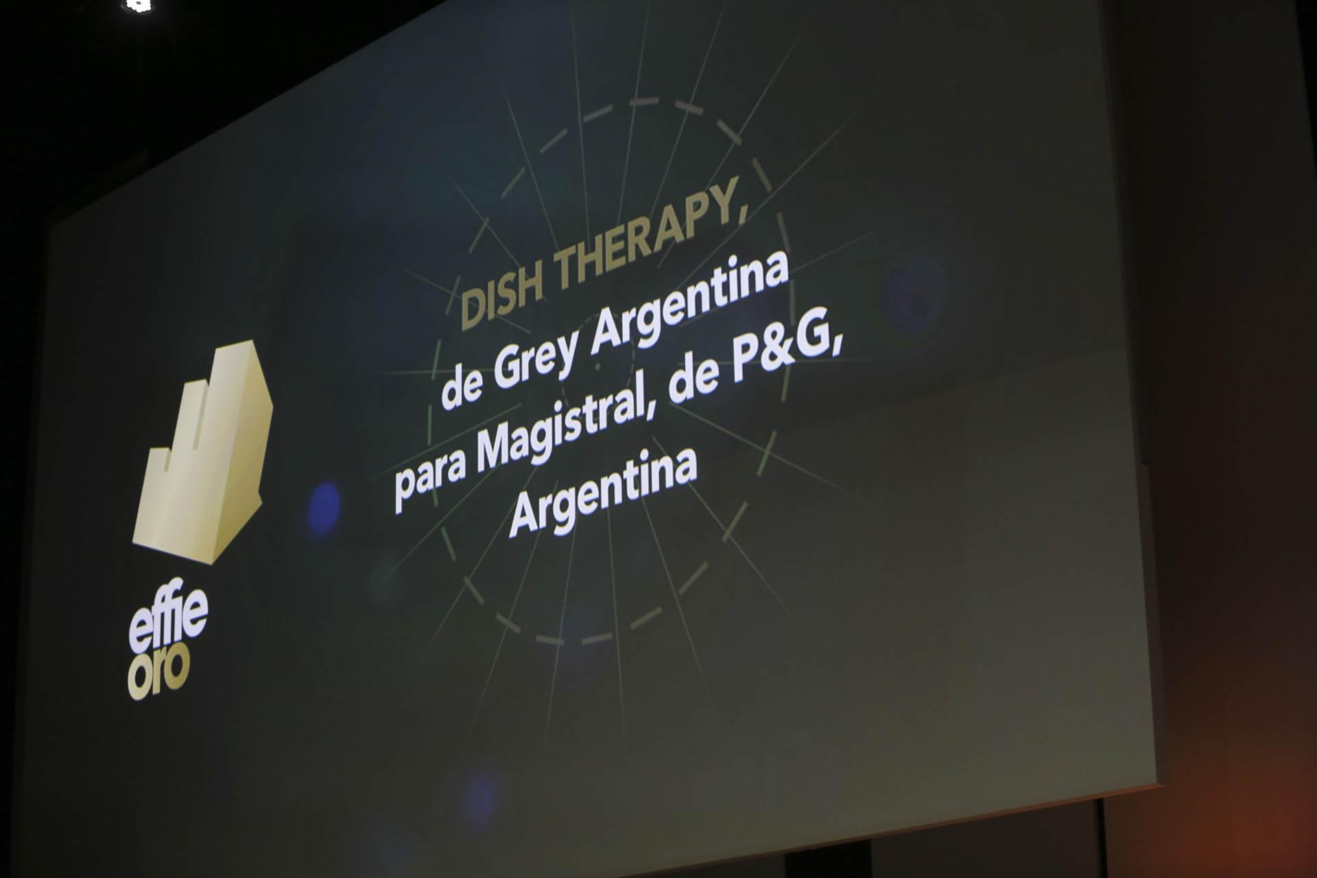 """En la categoría """"Mantenimiento y Accesorios para el hogar"""", ganó la agencia Grey Argentina por su campaña Dish Therapy para P&G"""
