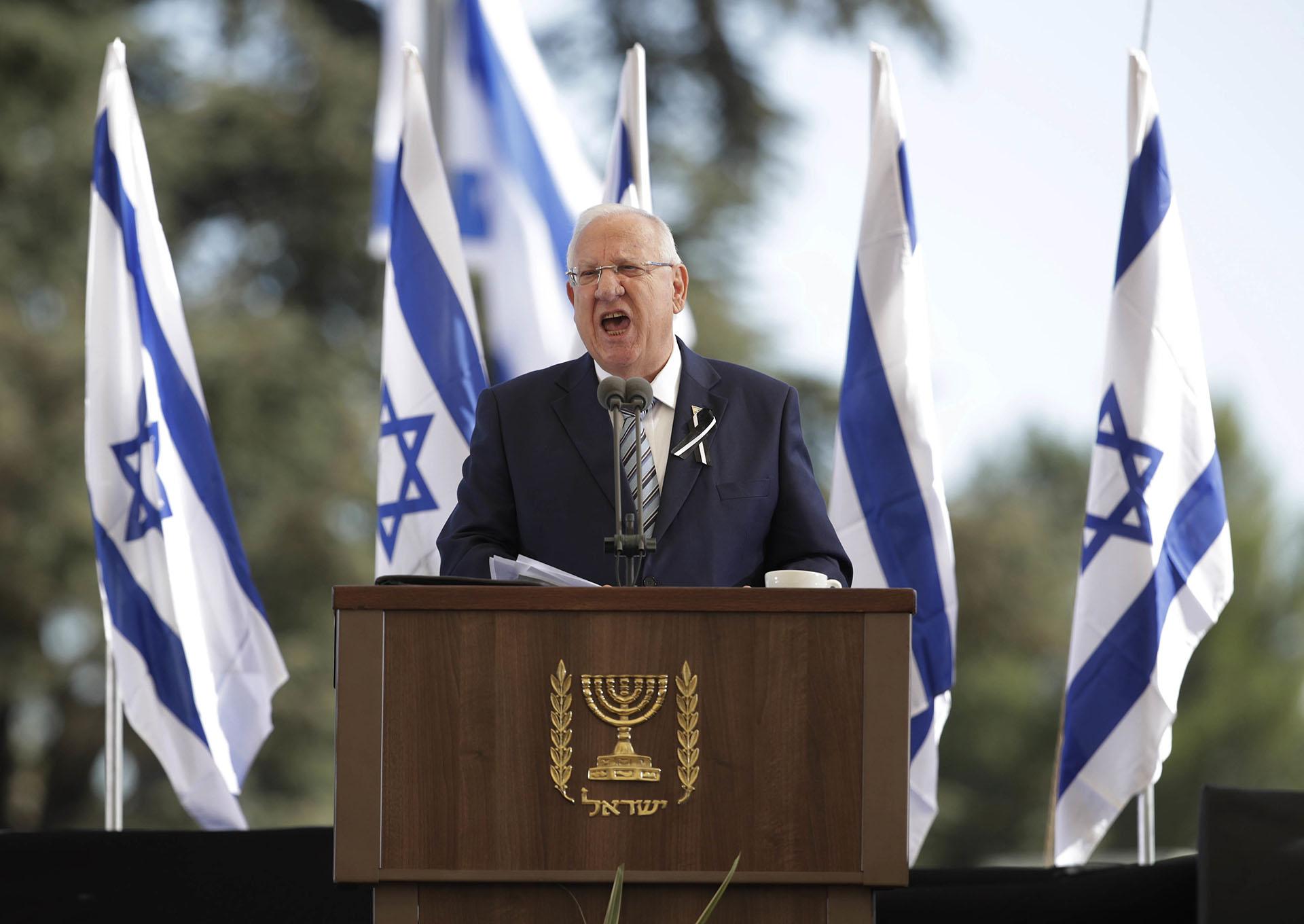 El president de Israel, Reuven Rivlin (AP Photo/Carolyn Kaster)