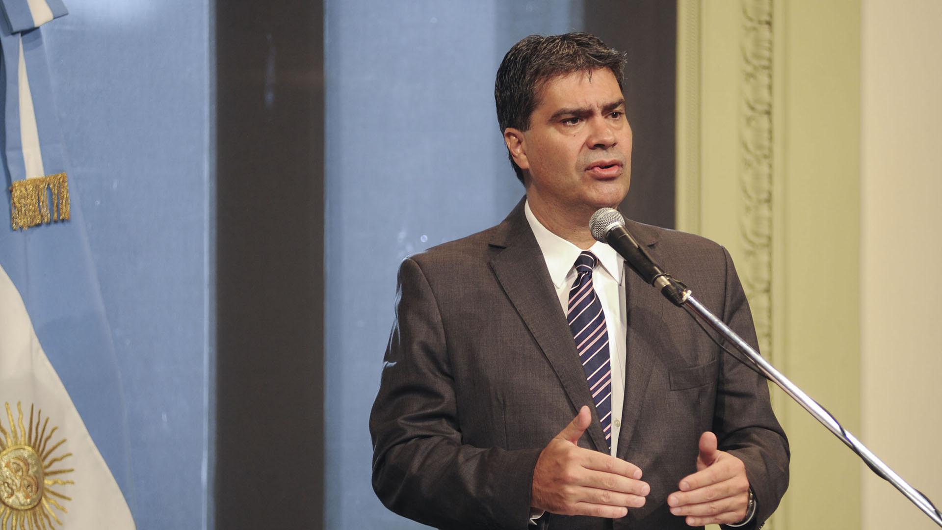 Jorge Capitanich, durante el ejercicio de la función como jefe de Gabinete de la Nación. (NA)