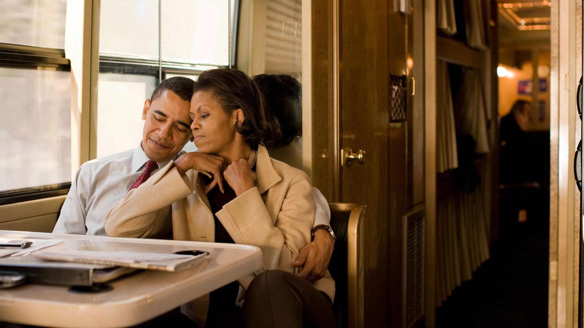Junto a su marido, Barack Obama, Presidente 44º de los Estados Unidos