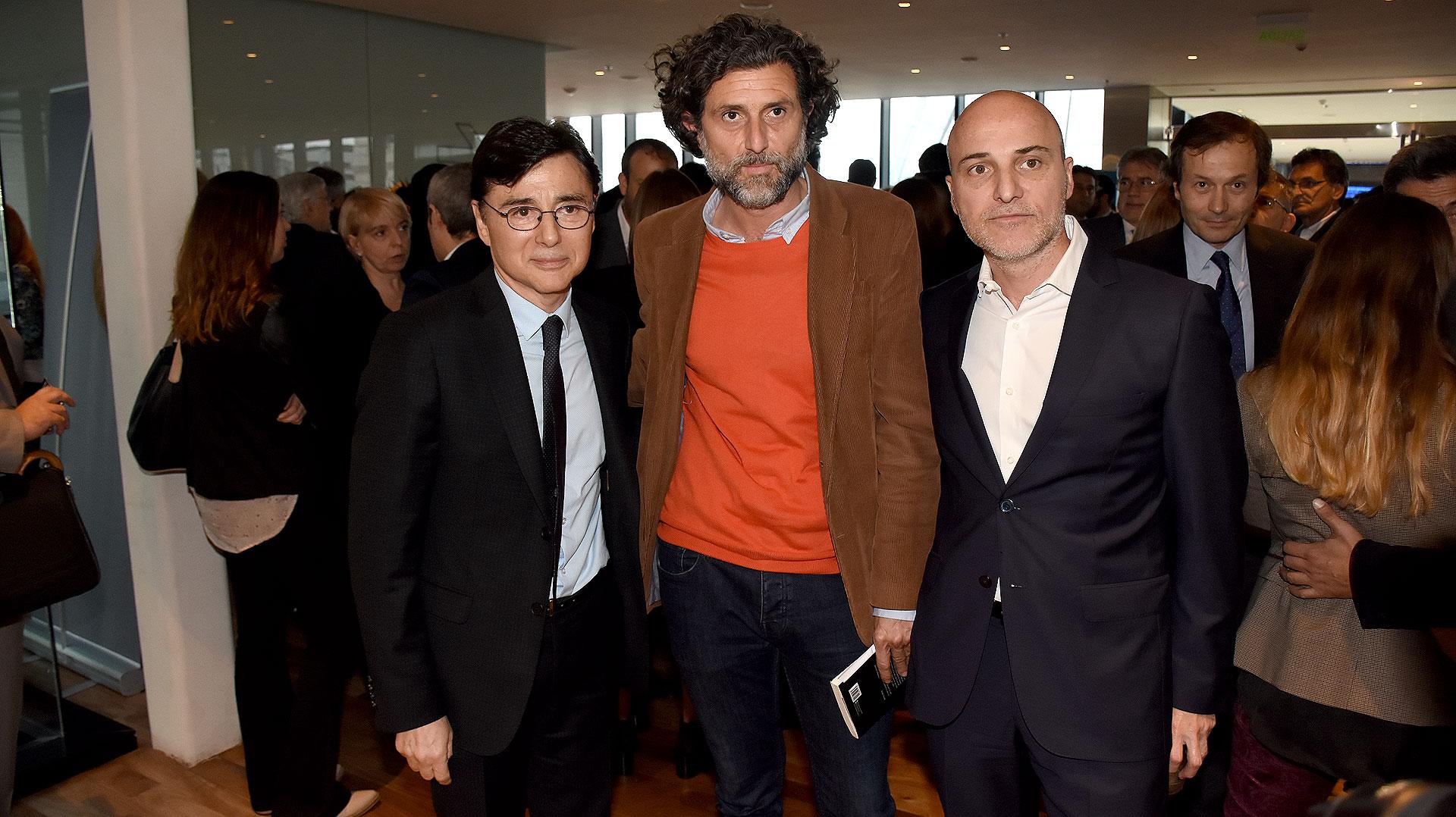 Jorge Fontevecchia junto al editor Nacho Iraola