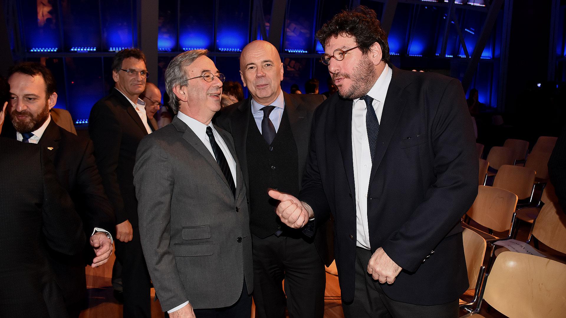Jorge Sigal, el titular del Complejo Teatral de Buenos Aires Jorge Telerman y Pablo Avelluto
