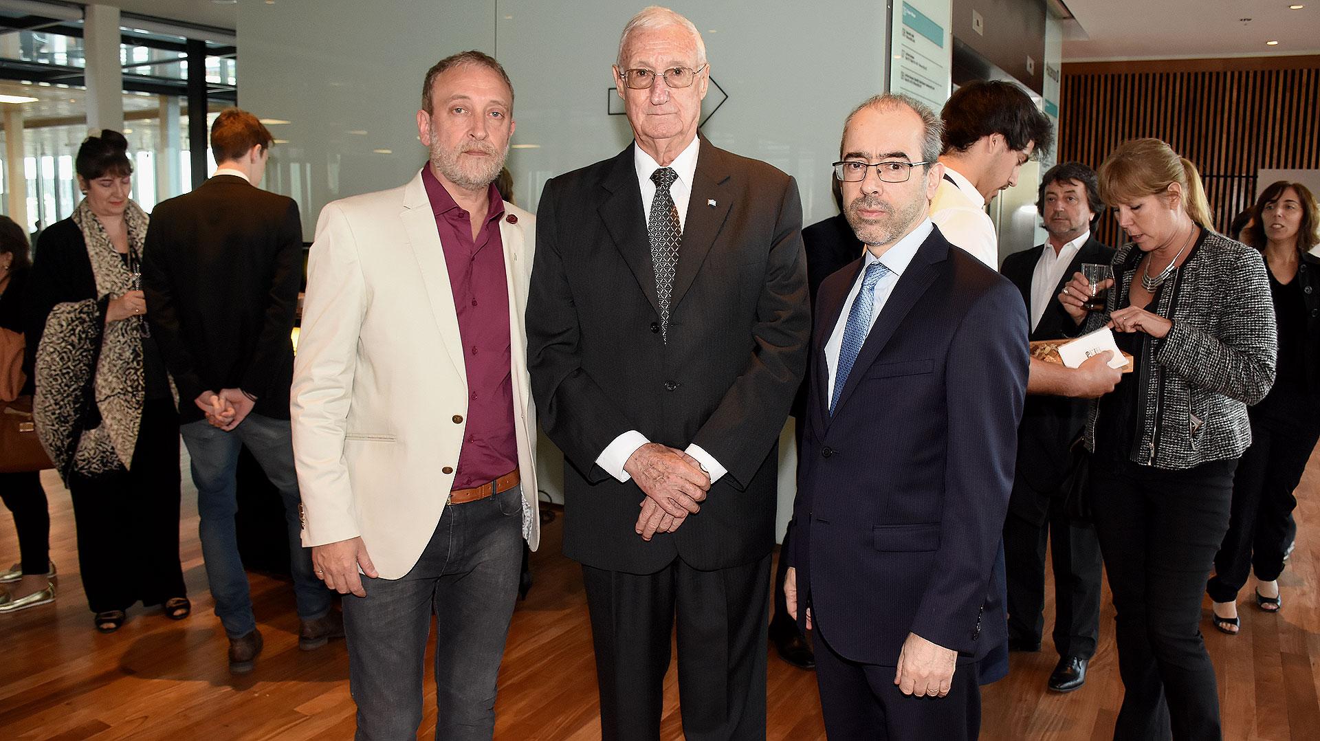 Edi Zunino, Martín Balza y Gustavo González