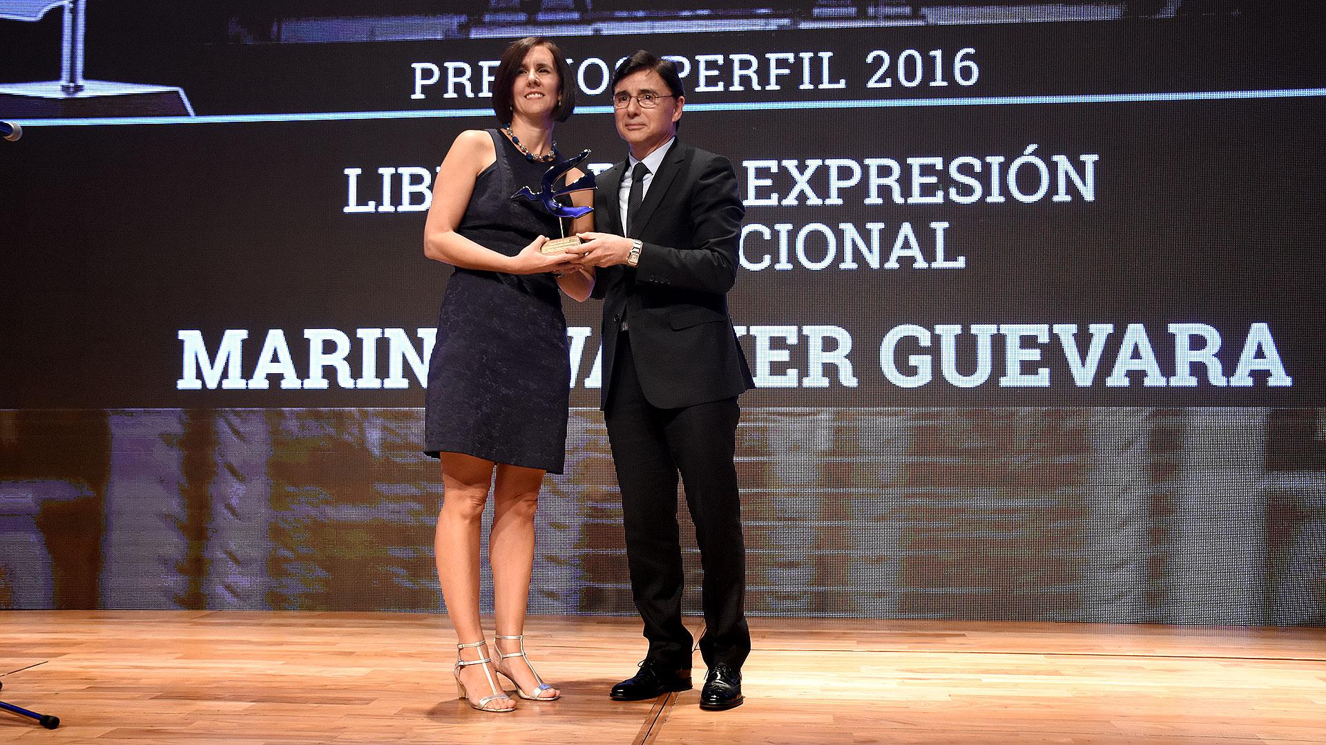 Jorge Fontevecchia junto a Marina Walker Guevara
