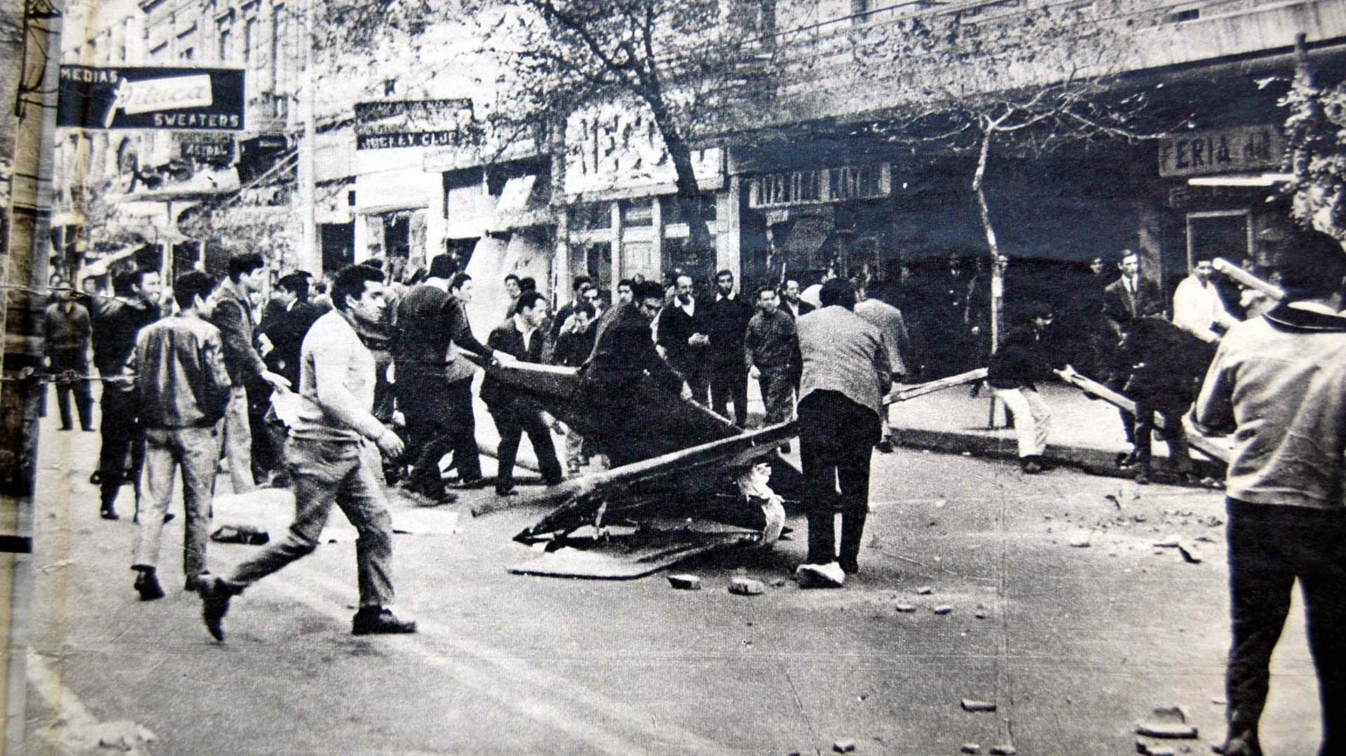 El viernes 23 de mayo de 1969 se produjo un paro con adhesión masiva decretado por la CGT de Santa Fe (Télam)
