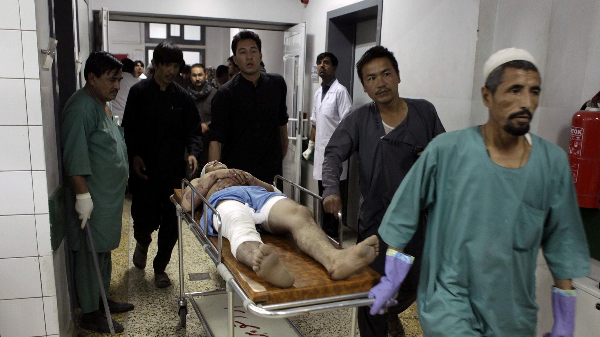 Un herido en el hospital tras un ataque terrorista (Reuters)