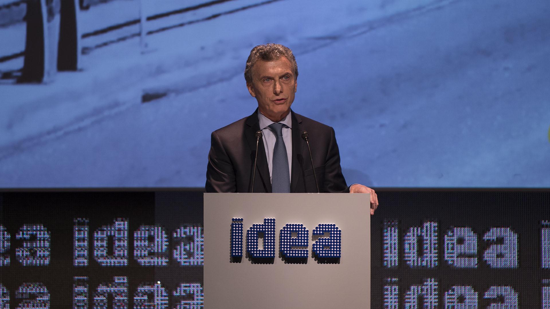 El presidente Mauricio Macri abrió el Coloquio de IDEA