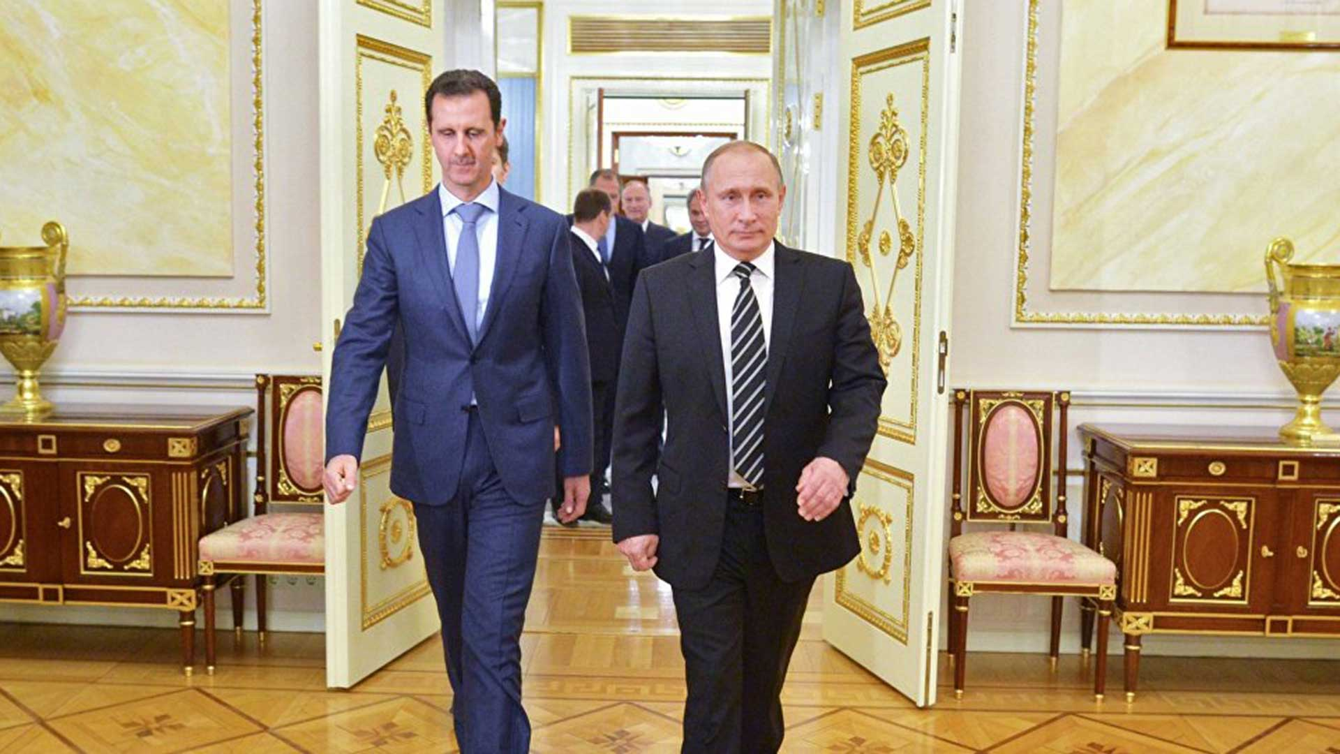Bashar Al Assad y Vladimir Putin