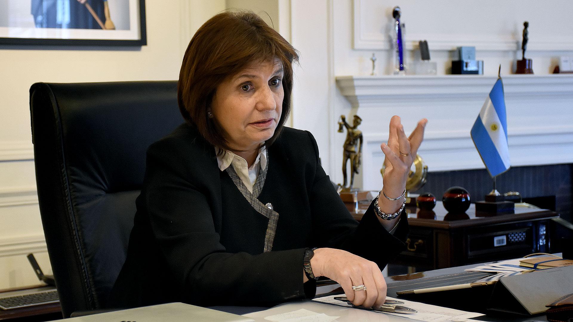 La ministra de Seguridad de la Nación, Patricia Bullrich (Foto: Nicolás Stulberg)