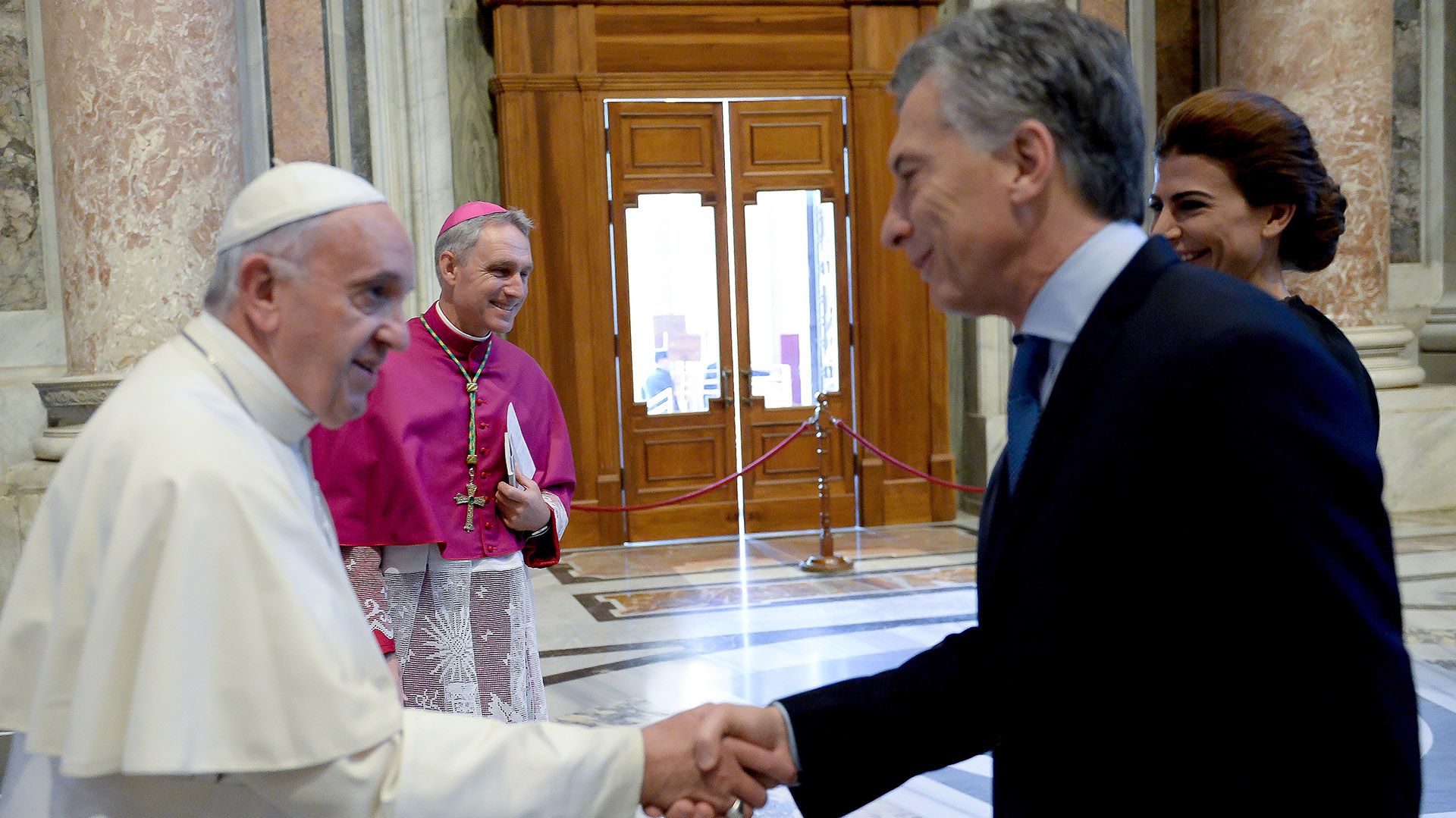 16 de octubre de 2016. Mauricio Macri junto al papa Francisco
