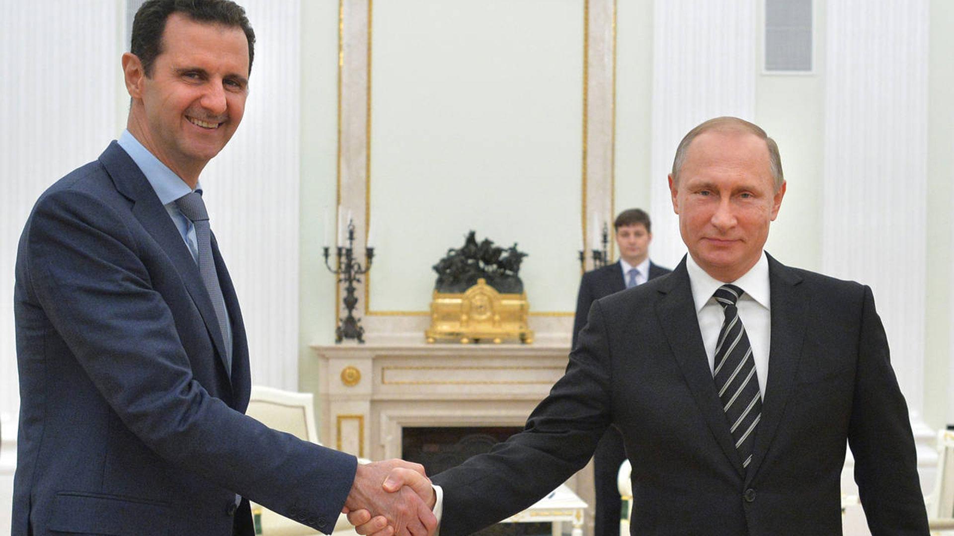 Vladimir Putin, el principal aliado del dictador sirio Bashar al Assad (AP)