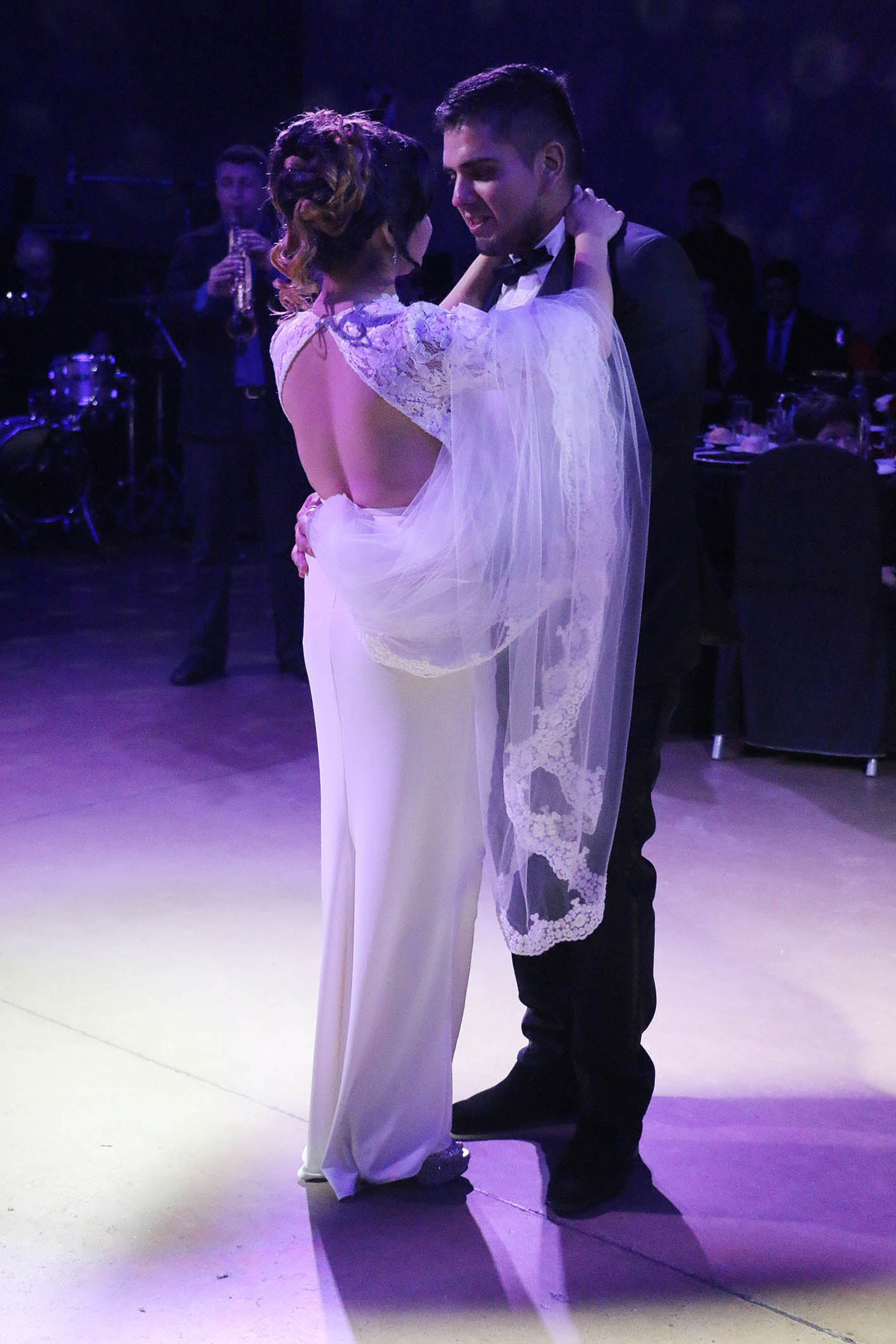 La pareja bailando