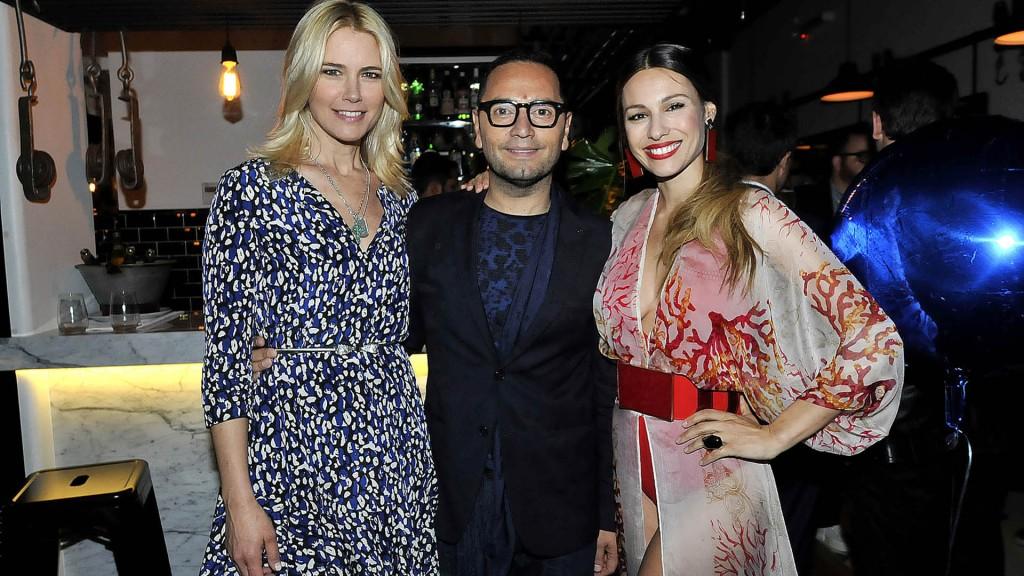 Fabián con Pampita y Valeria Mazza – Crédito: Verónica Guerman – Teleshow