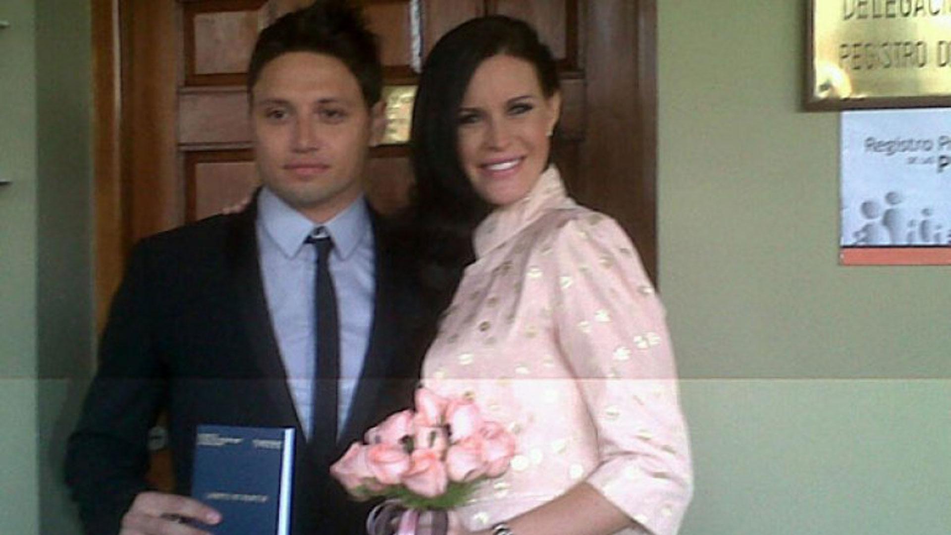 Mauro Zarate y Natalie Weber