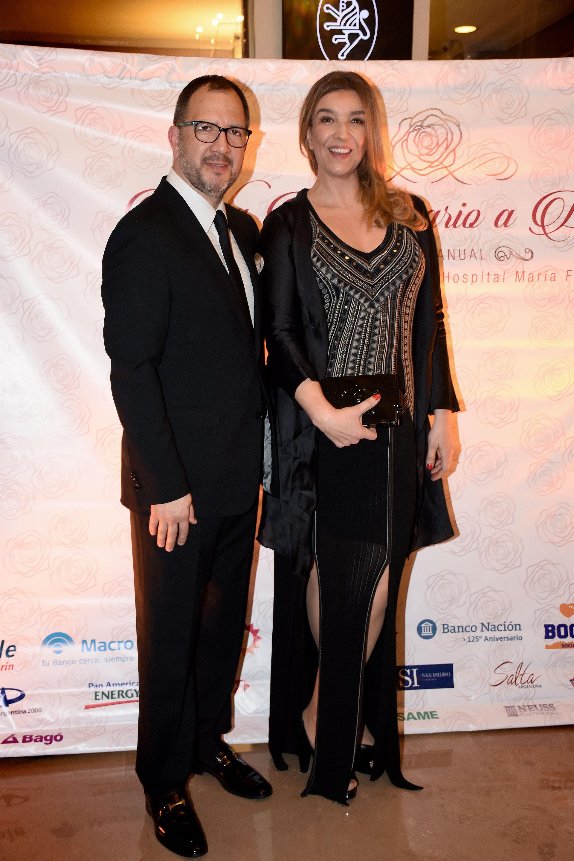 Fabián Perechodnik, secretario general del Gobierno de la Provincia de Buenos Aires, y Gabriela Solustri