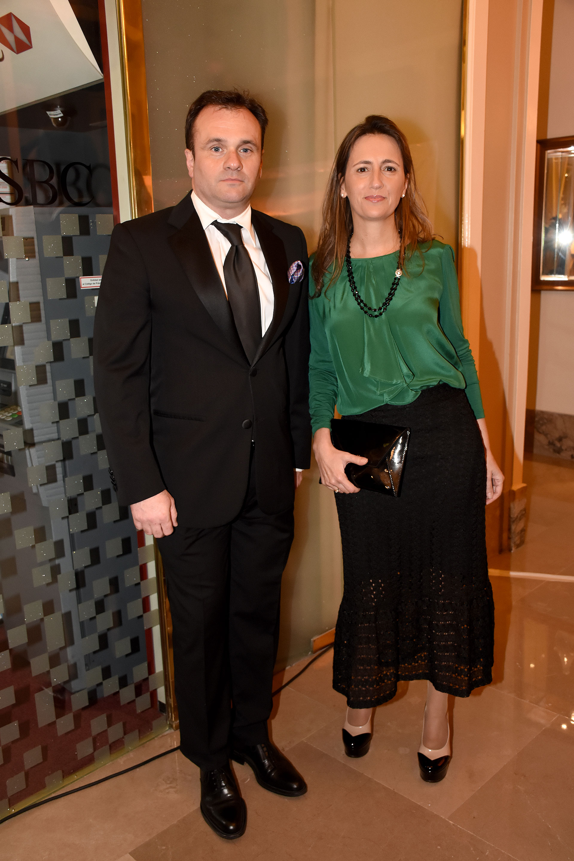 Juan Pablo Maglier, director de Relaciones Institucionales de La Rural, y Magdalena Maglier