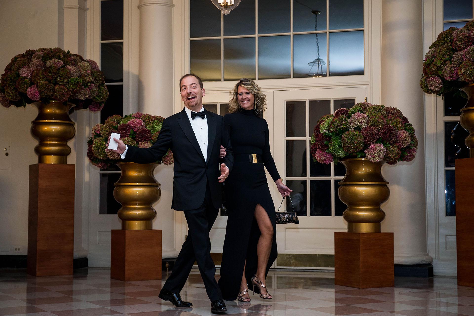 El periodista de la cadena NBC Chuck Todd junto a su mujer, Kristian Todd