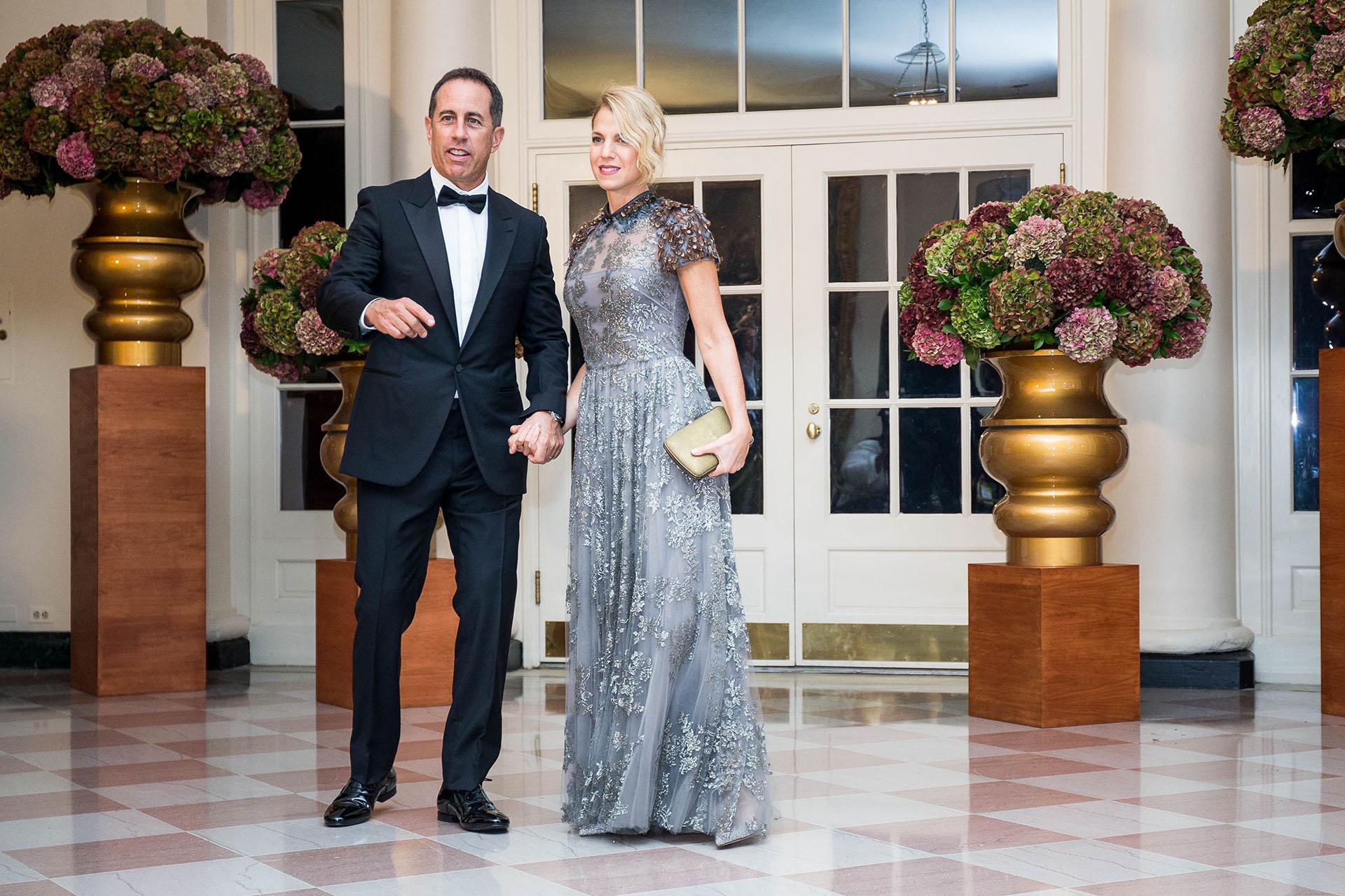 El comediante Jerry Seinfeld junto a su mujer Jessica Seinfeld