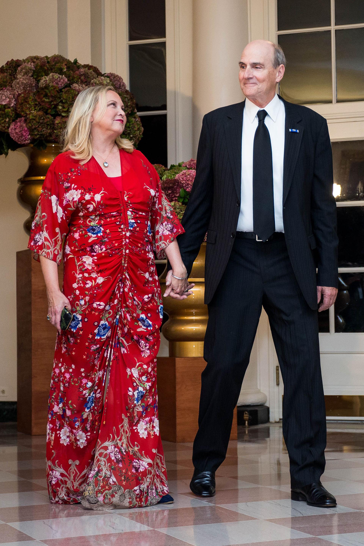 El cantante James Taylor junto a su mujer Kim Taylor
