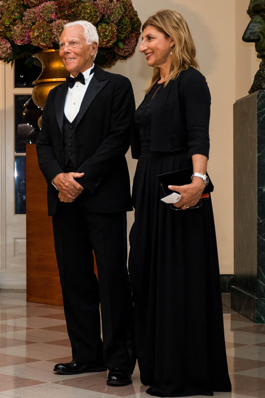 Giorgio Armani junto a su esposa, Agnese Landini