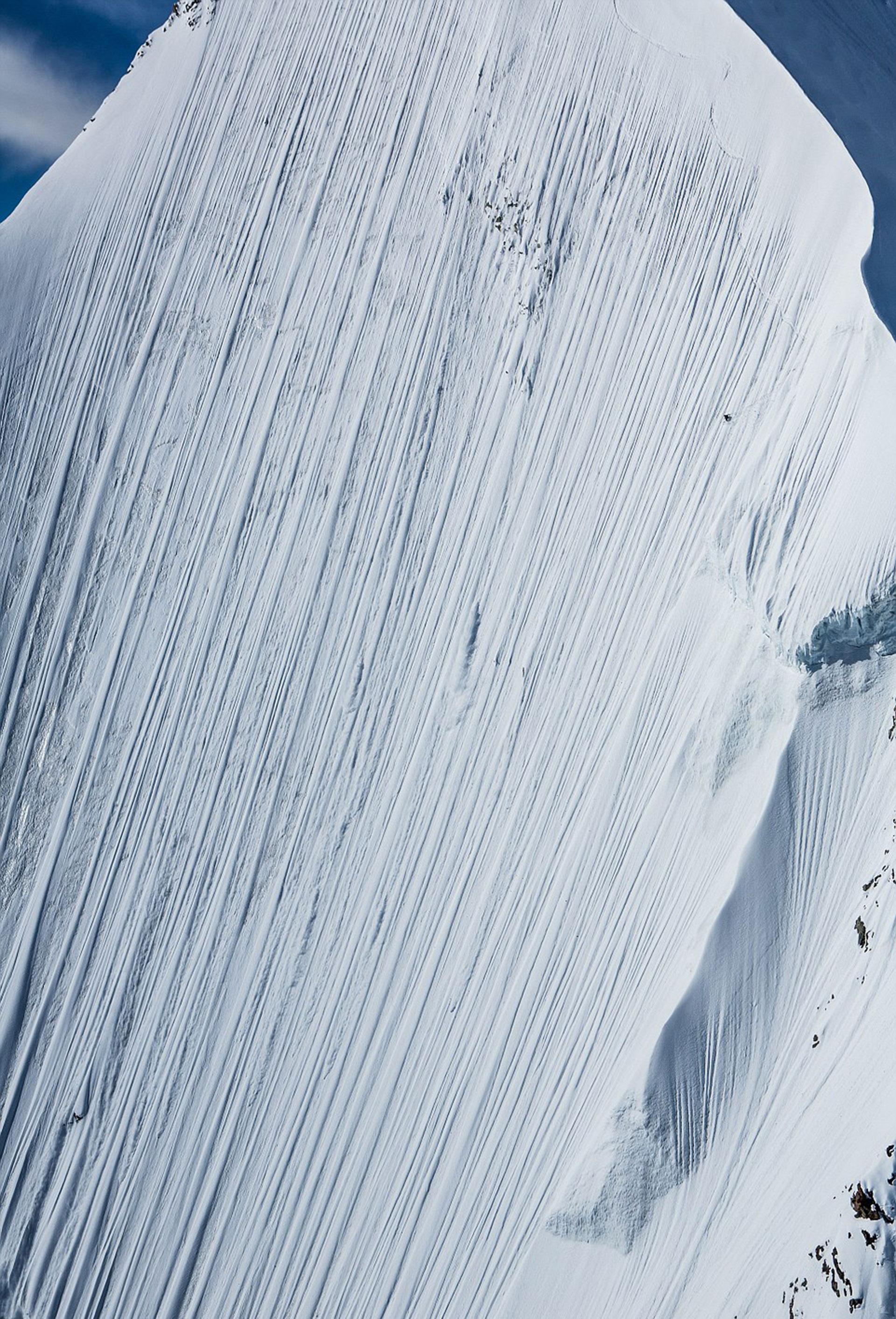 Otro ángulo del trayecto que Heitz realizó sobre uno de los picos de los Alpes Peninos