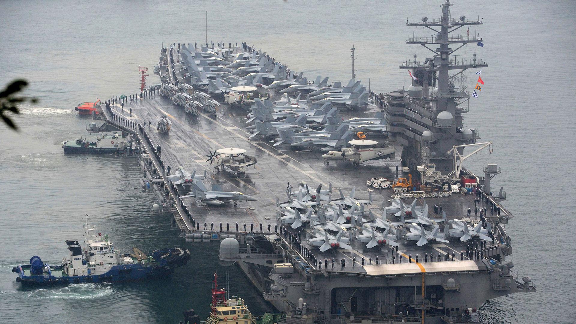 El portaaviones USS Ronald Reagan (AP)
