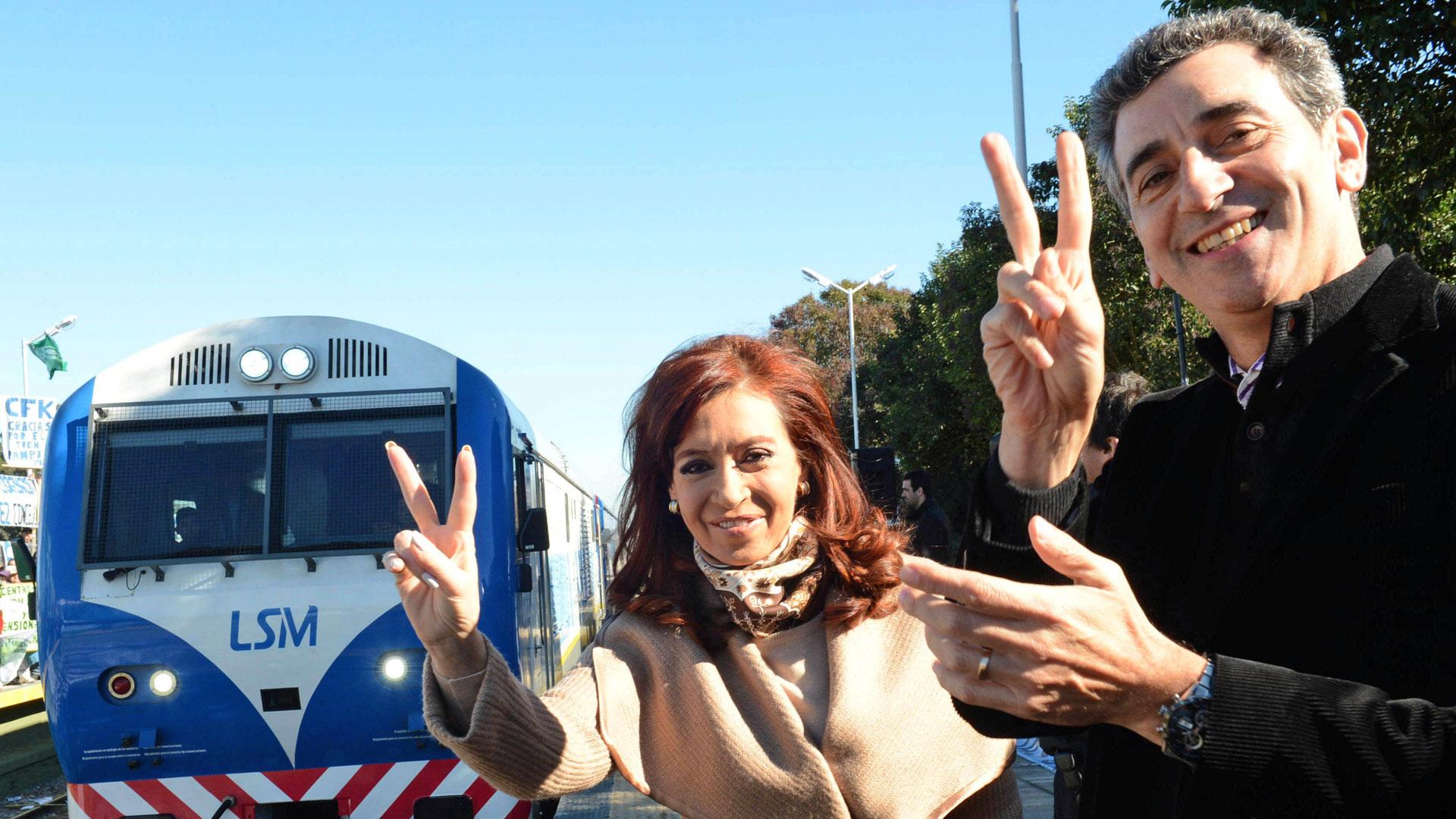 La ex presidente junto a Florencio Randazzo (NA)