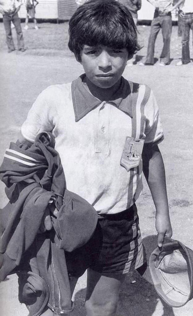 """Maradona, en su época de """"cebollita"""""""