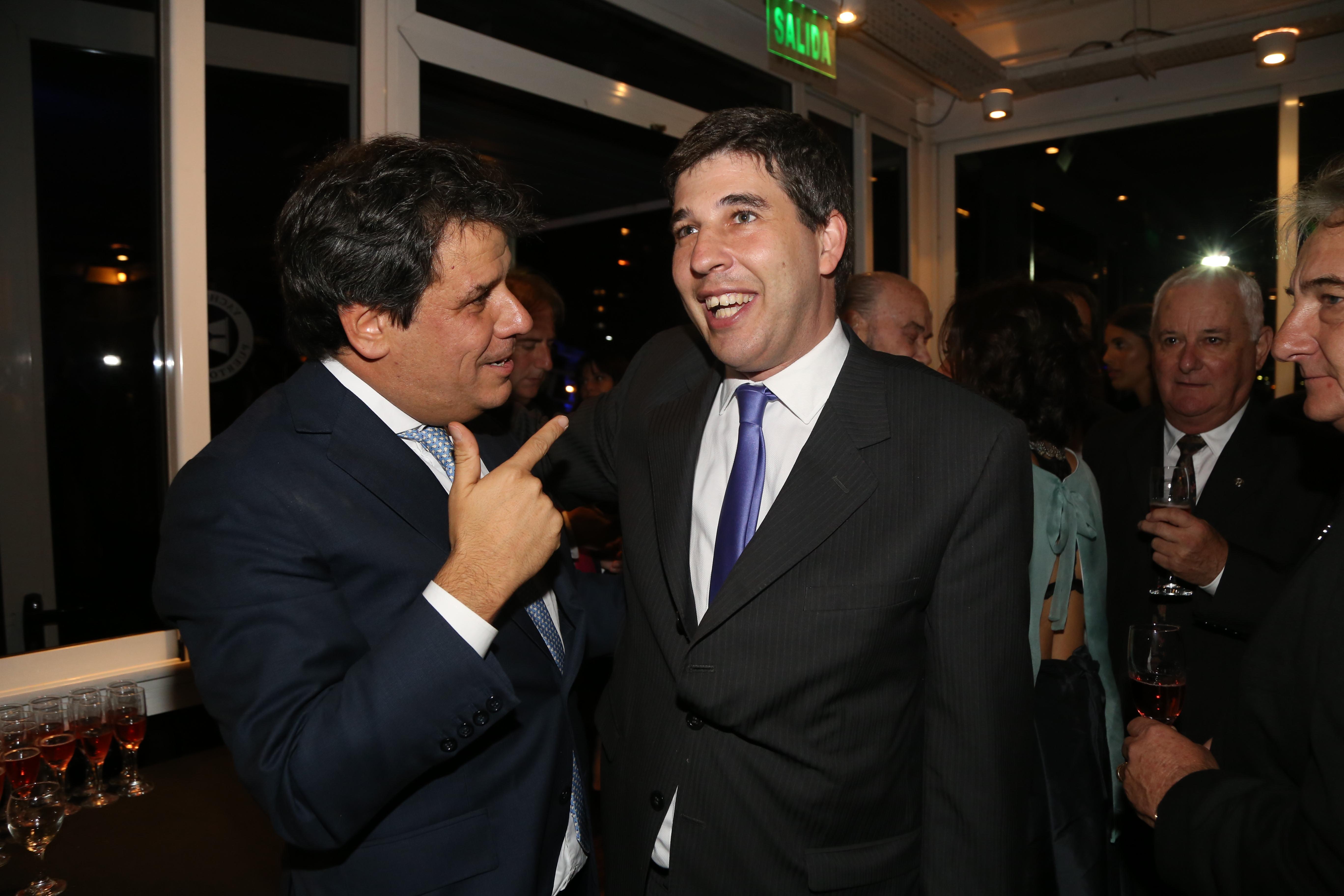 Facundo Manes y Alejandro Simón, director general del Grupo Sancor Seguros