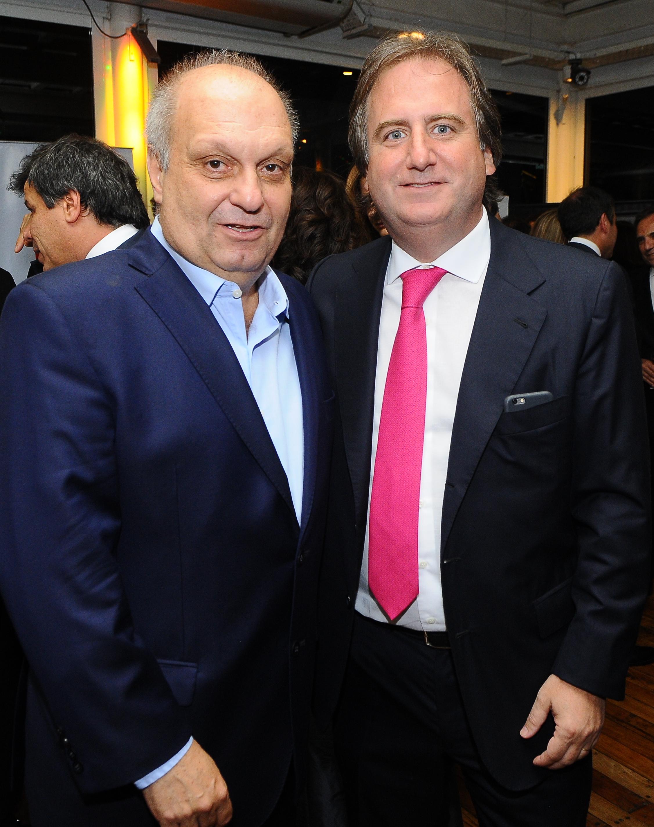 Hernán Lombardi, titular del Sistema Federal de Medios y Contenidos Públicos, y Tato Lanusse