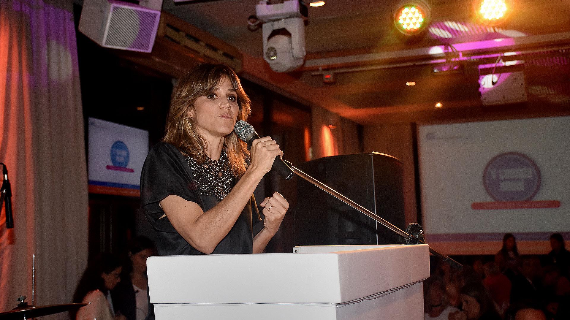 María Freytes estuvo a cargo de la conducción del evento