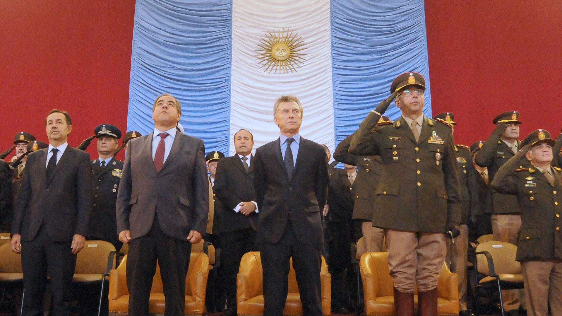 Mauricio Macri durante un acto de las Fuerzas Armadas (NA)