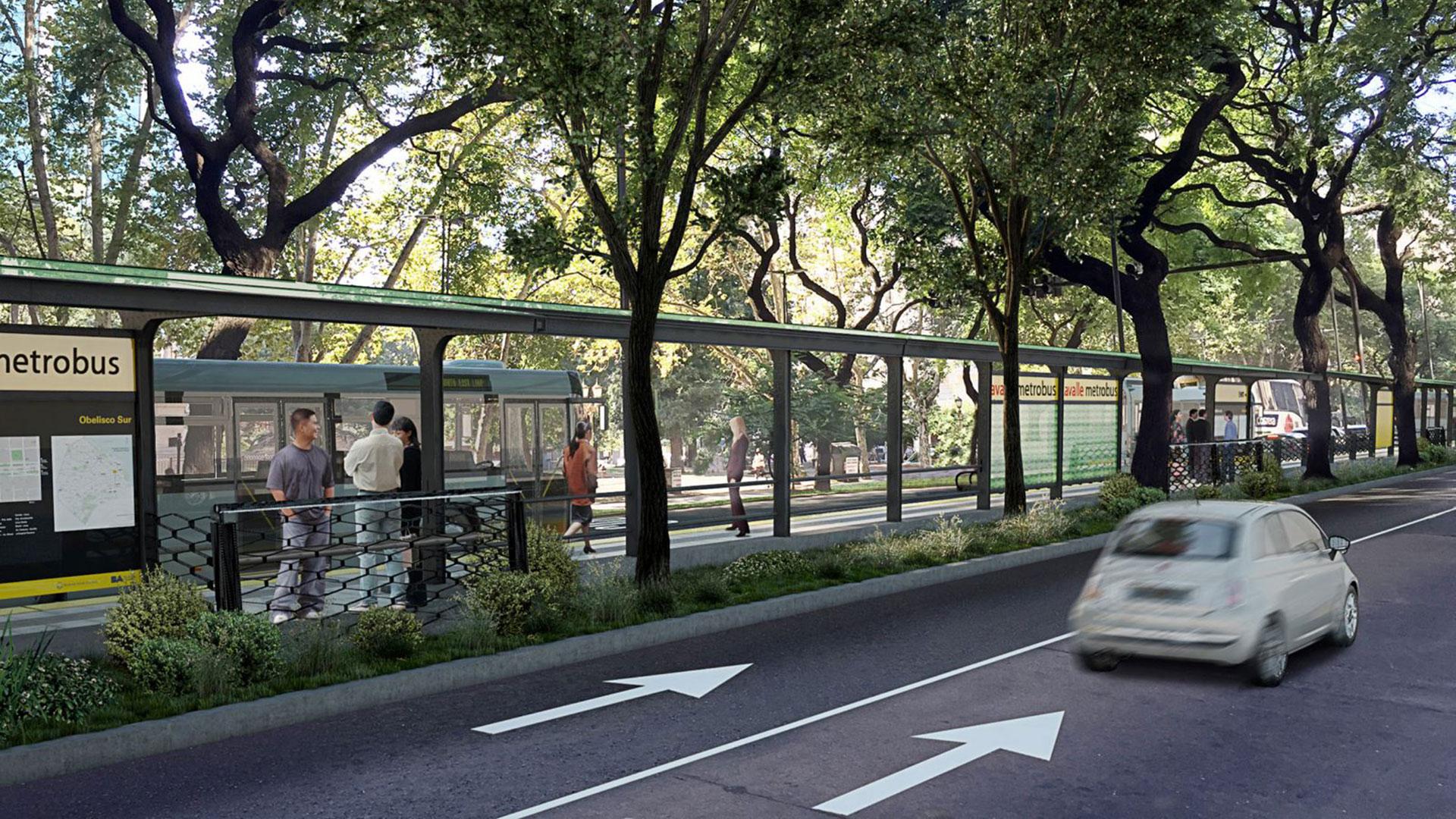 Proyección de cómo quedará el Metrobus del Bajo (GCBA)
