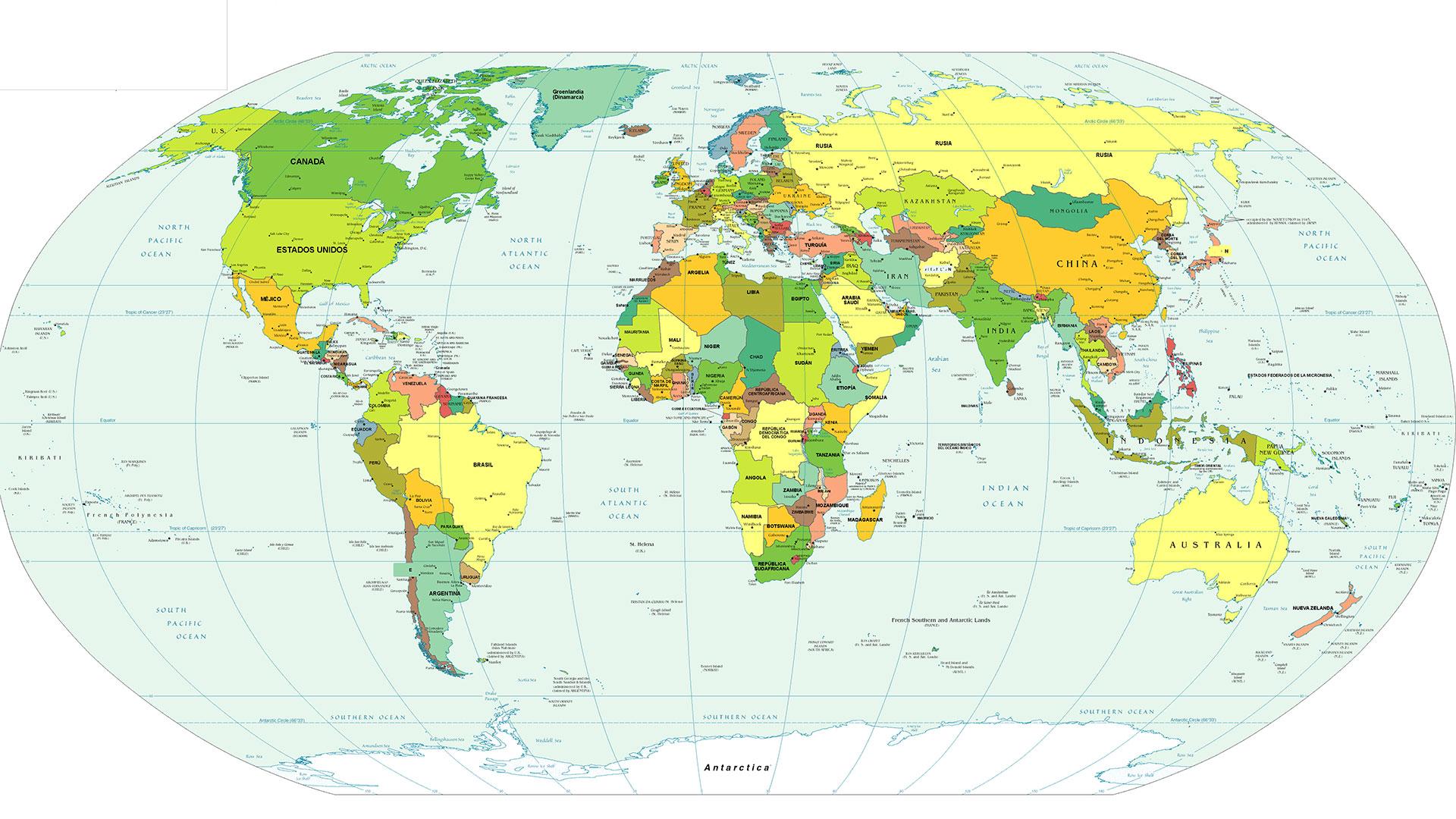 El mapa creado por Gerardus Mercator en 1569