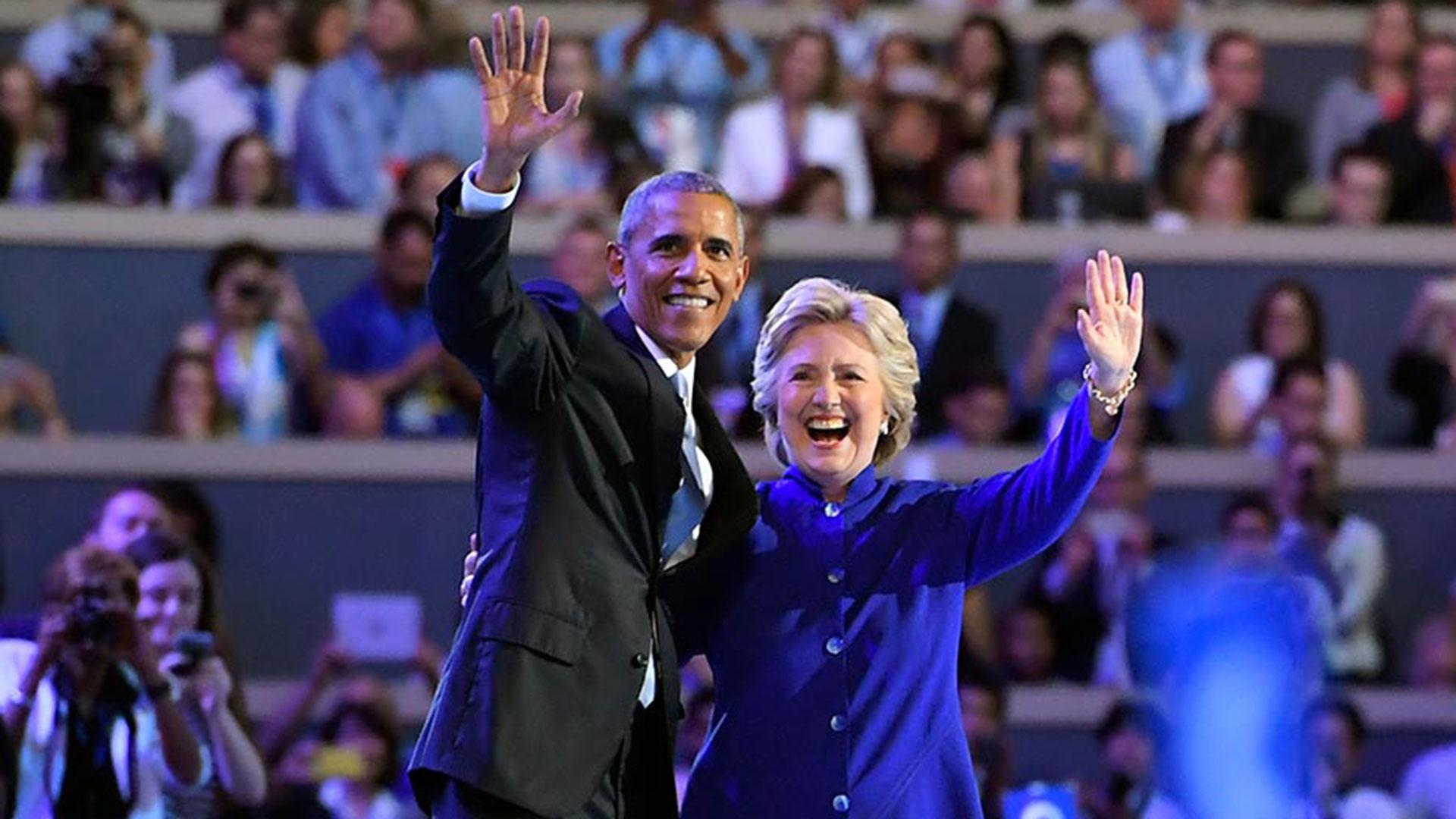 Barack Obama y Hillary Clinton (AP)