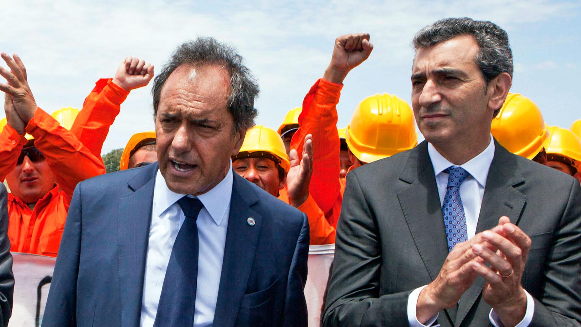 Scioli junto a Randazzo en tiempos donde ambos formaban parte del gobierno kirchnerista (NA)