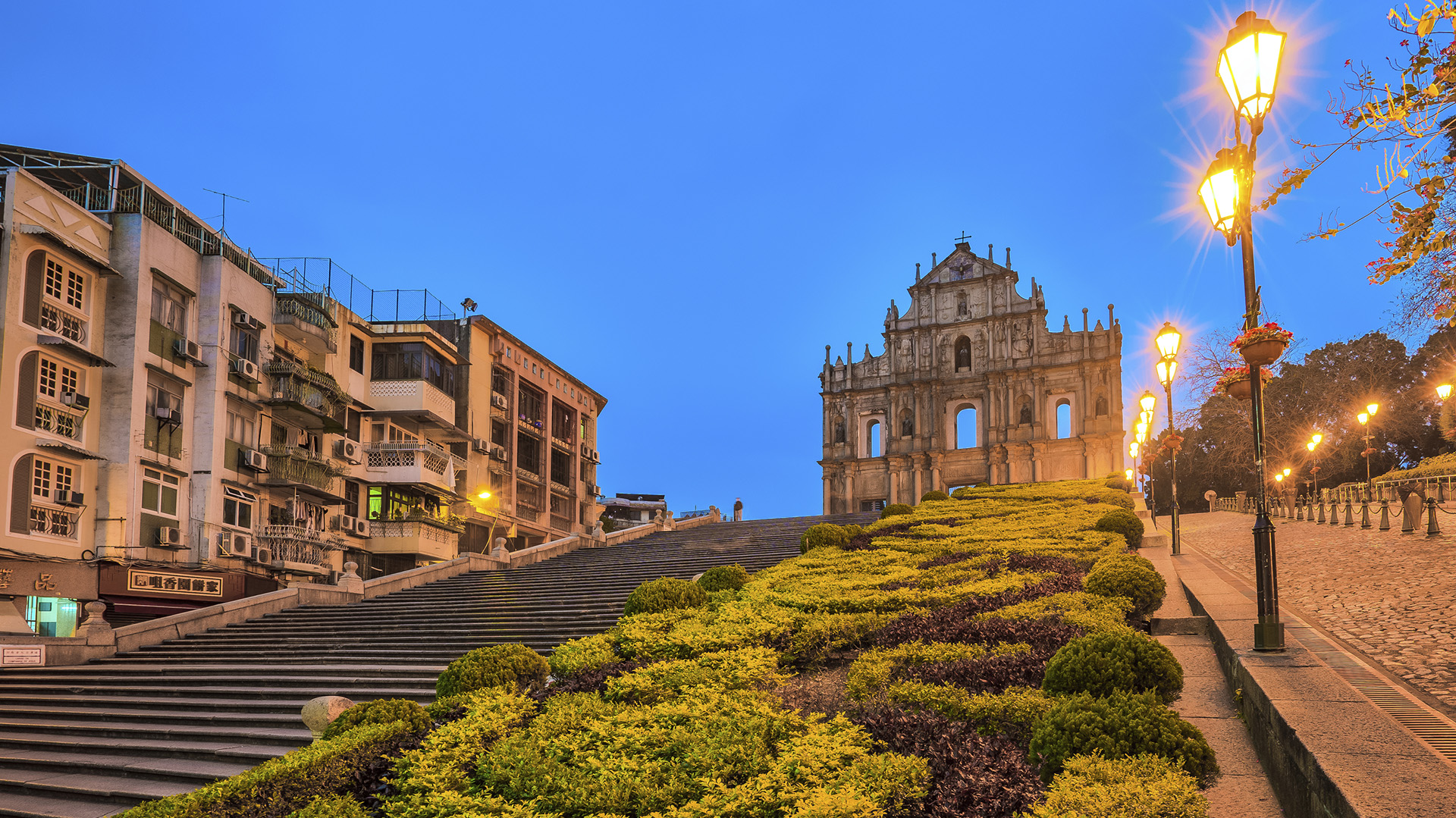Las ruinas de la catedral de San Pablo de Macao, vestigio de la era colonial (iStock)