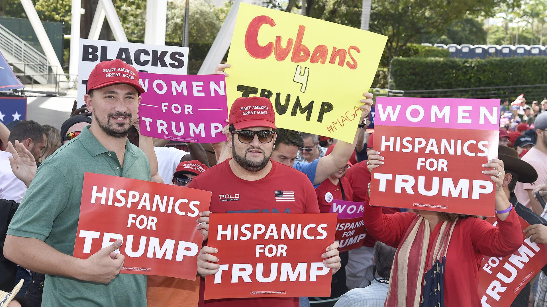Hispanos a favor de Trump en Miami (AFP)