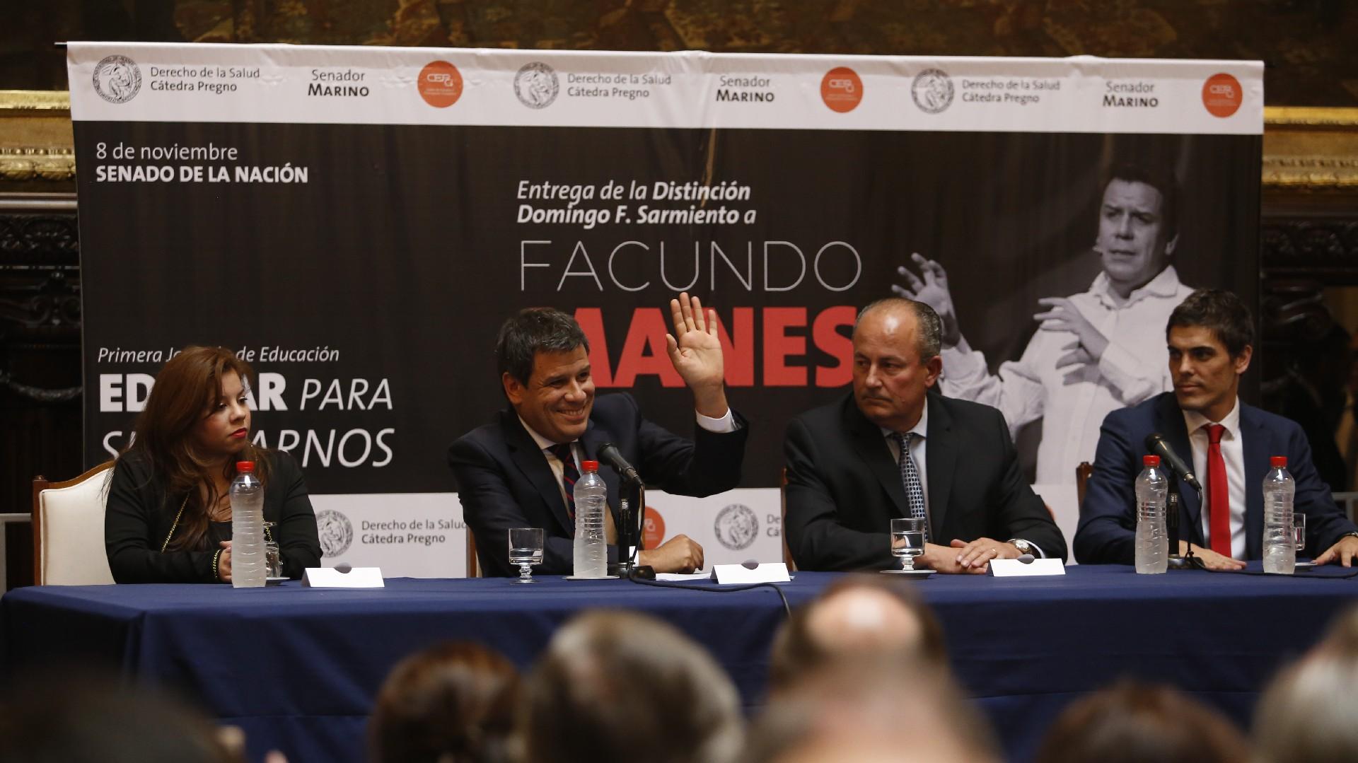 Facundo Manes expuso su discurso durante 40 minutos