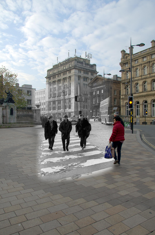 A principios de los años sesenta no era raro ver a los Beatles paseando por Liverpool