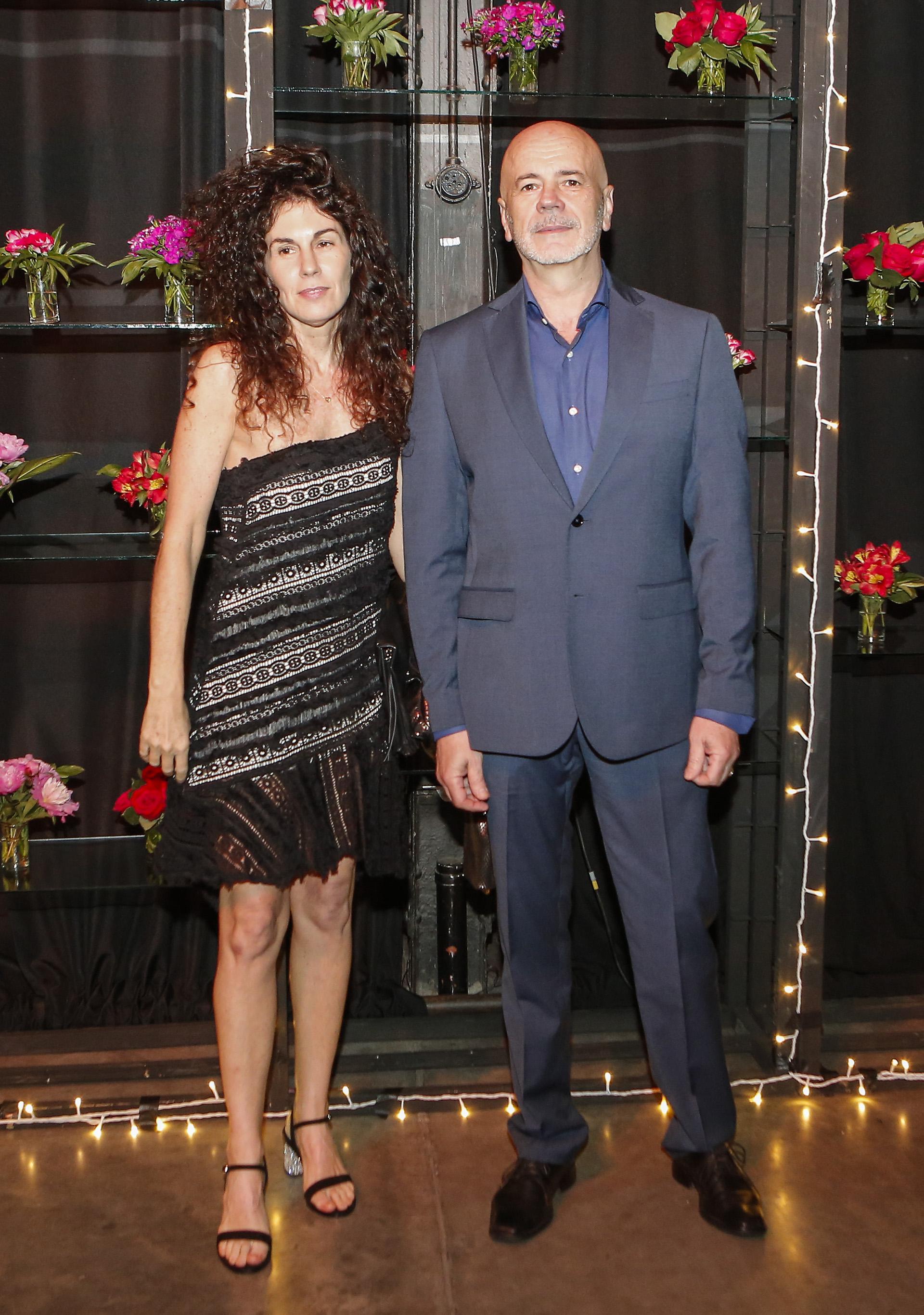 Jorge Telerman, director del Complejo Teatral de Buenos Aires, y la artista plástica Cynthia Cohen