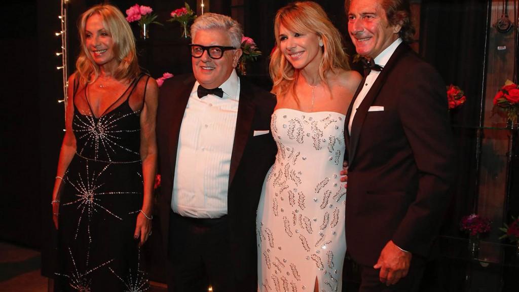 Amelia Saban y Martín Mazzei junto a Carlos Gorosito y Grace Ratto