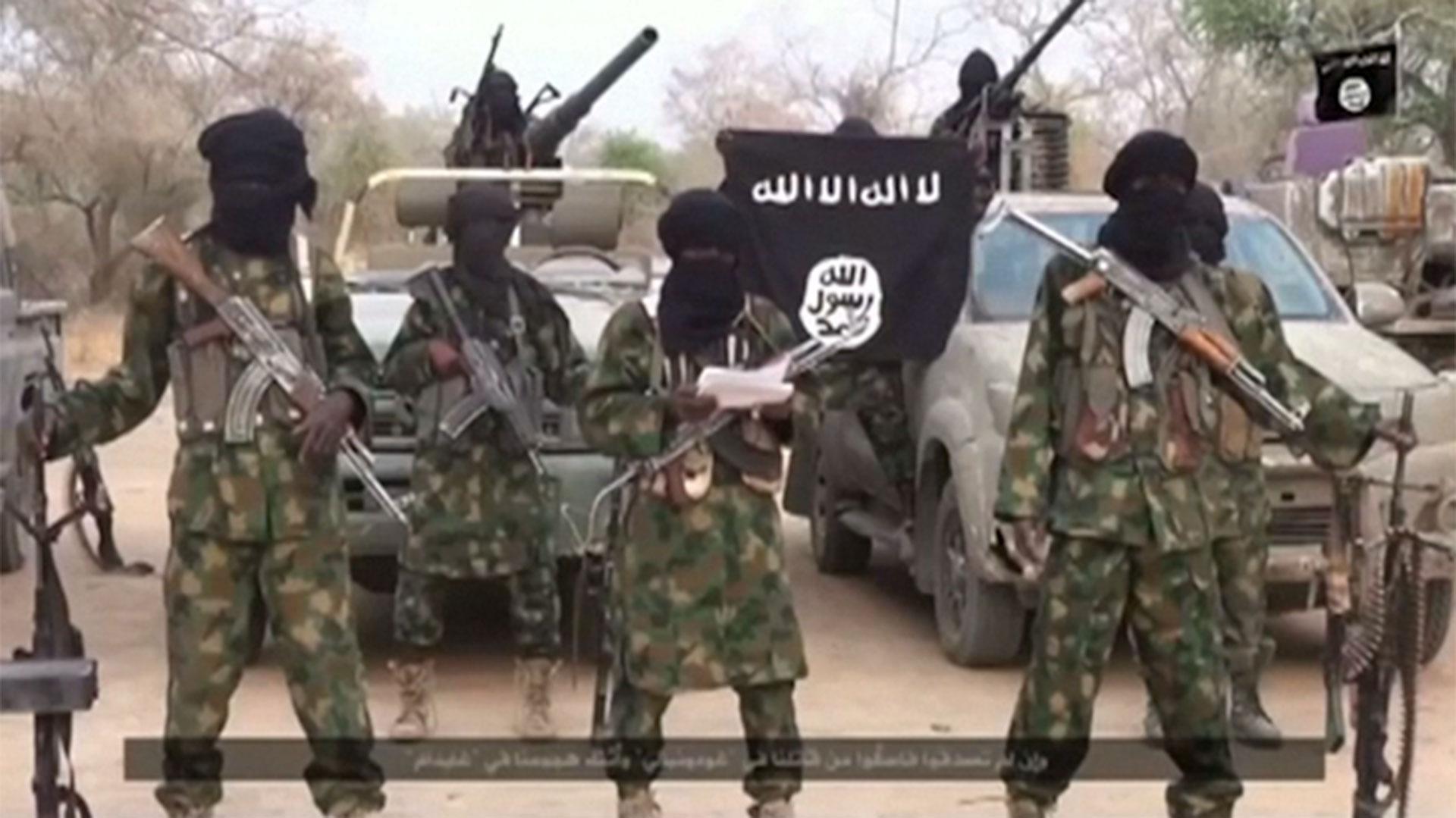 Boko Haram, uno de los muchos grupos terroristas regionales que se han vinculado al ISIS. Opera en Nigeria, Camerún, Chad y Mali