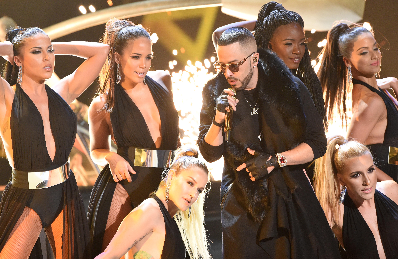 El cantente puertorriqueño de reggaeton y pop latino Yandel (AFP)