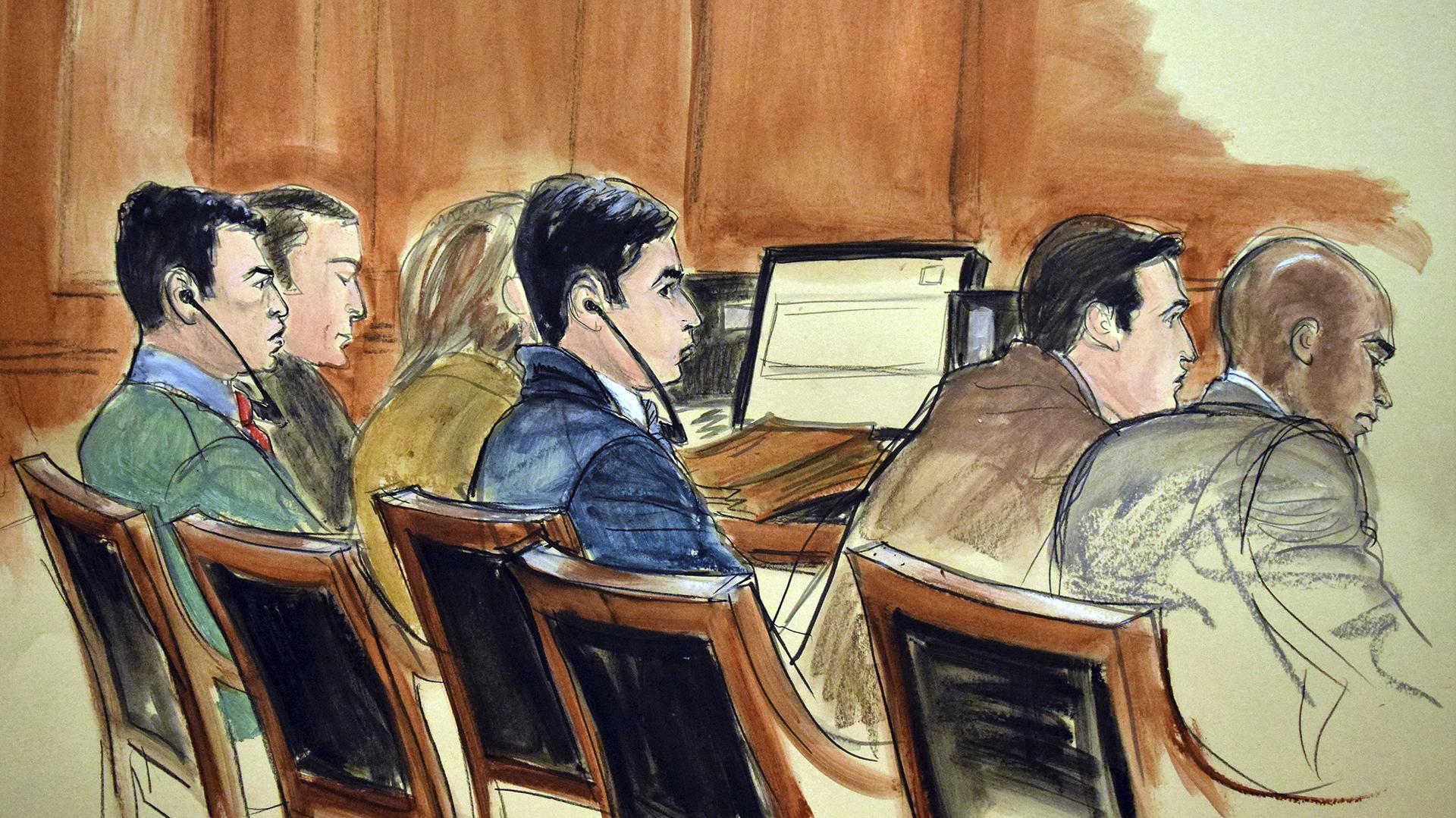 Un momento del juicio a los narcosobrinos (AP)