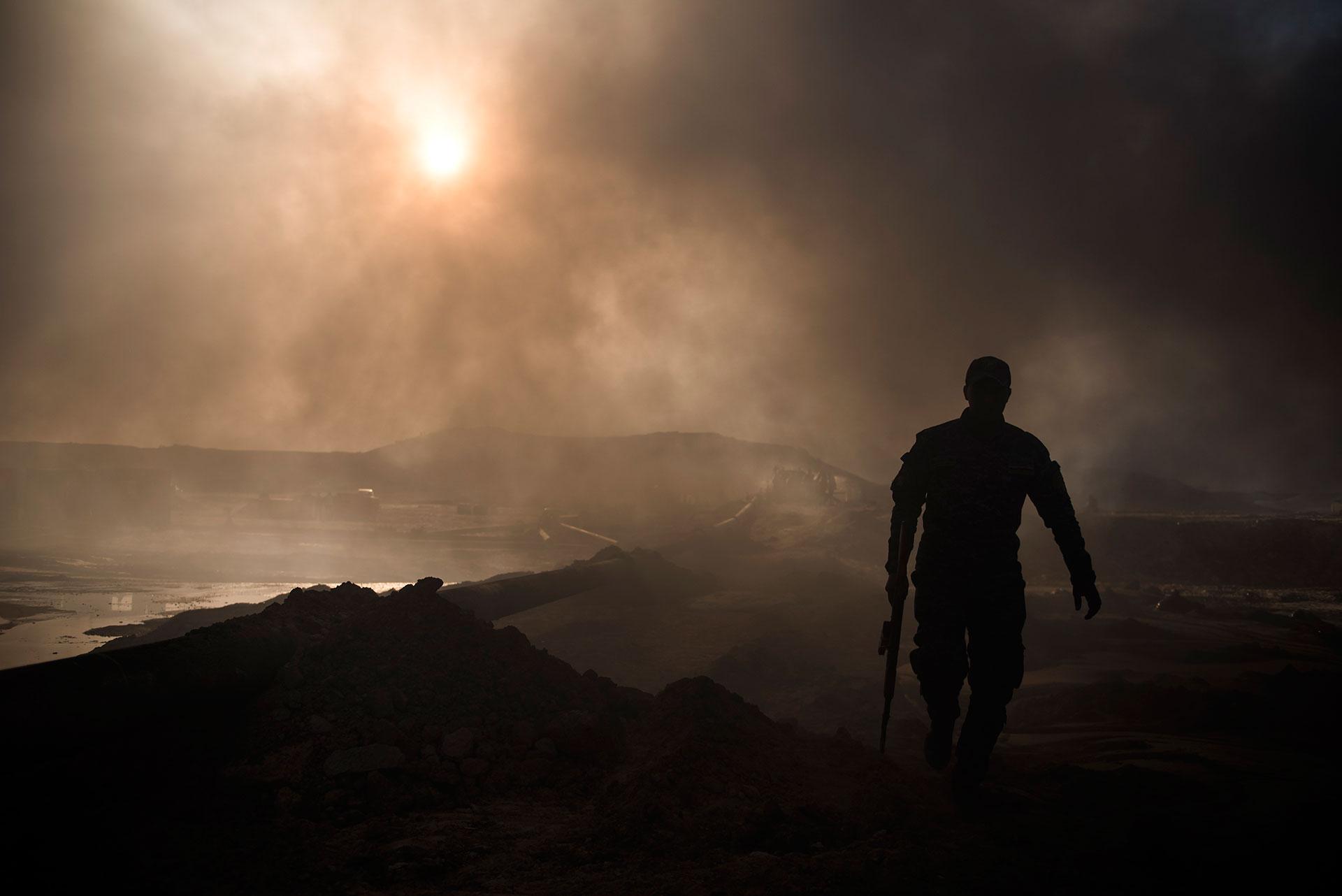 La liberación de Qayyarah fue clave para iniciar la Batalla de Mosul, último bastión yihadista en Irak (AFP)